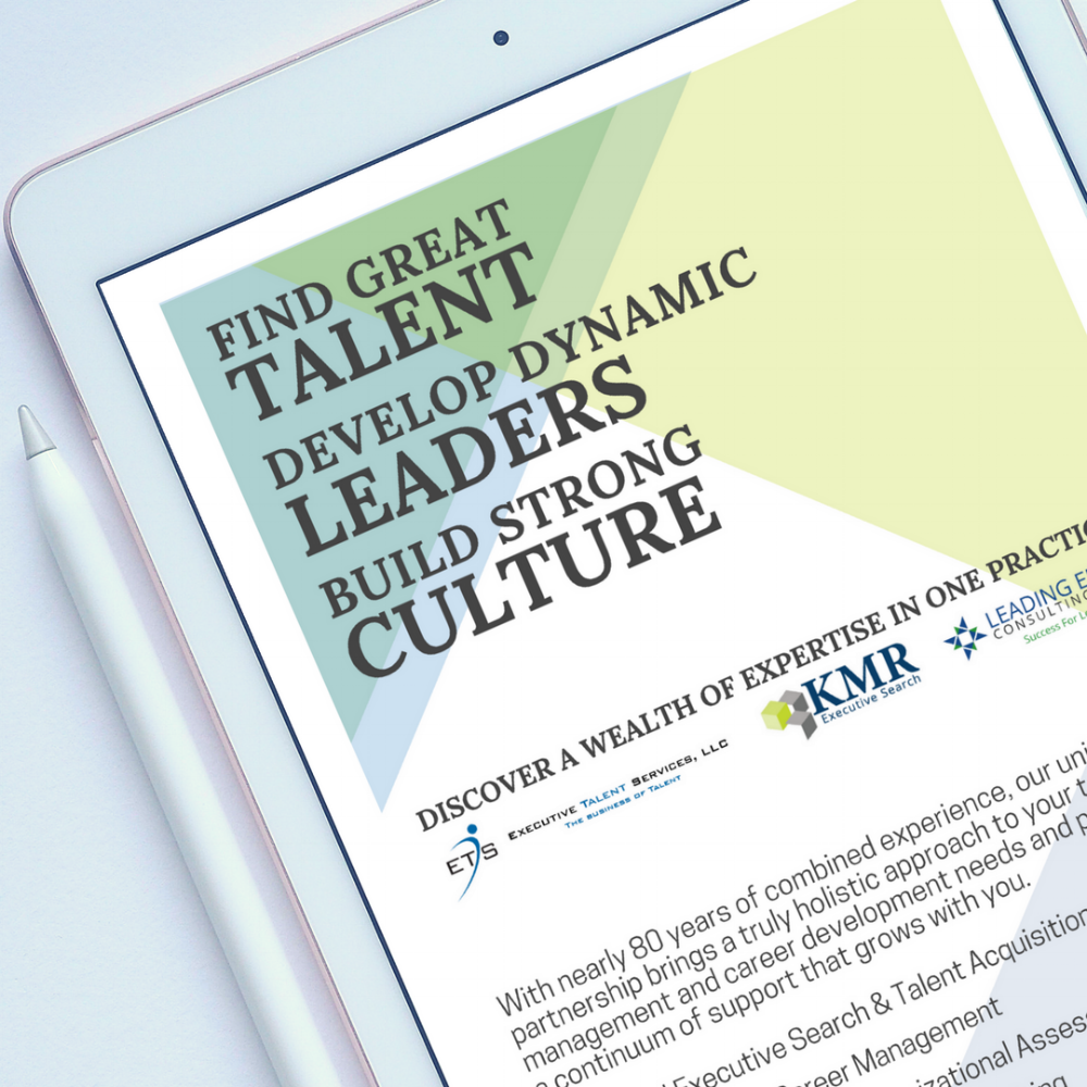 Executive Talent Services Leading Edge Consulting KMR Search Brochure Front.png