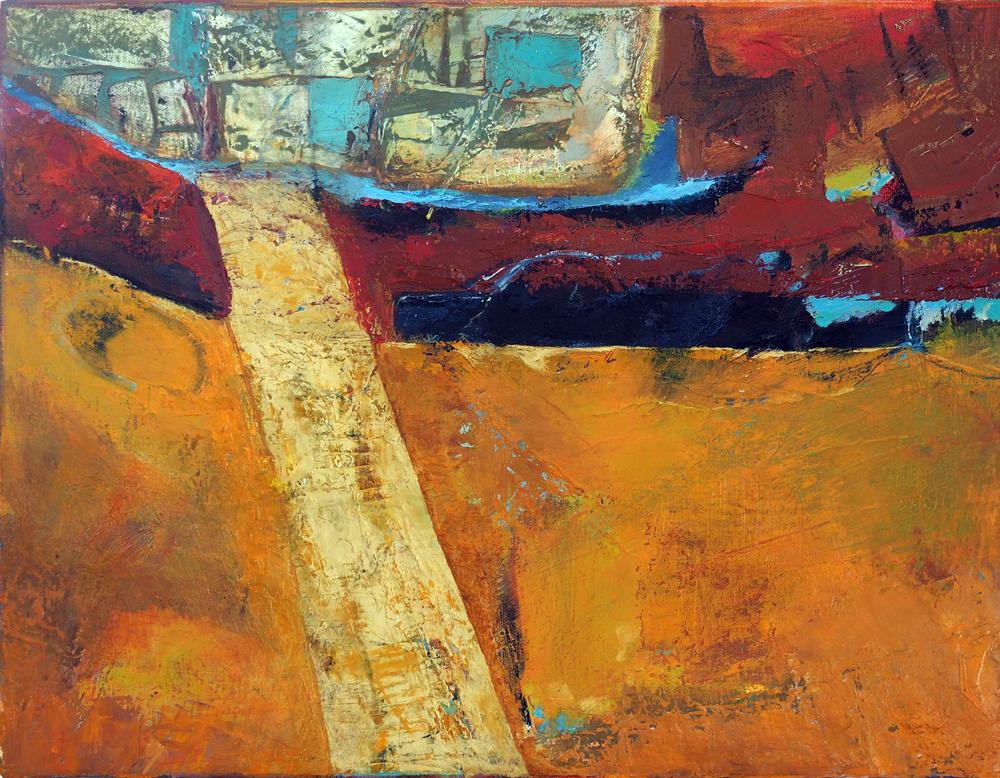 Golden Road Oil on canvas,36cm x 46cm,€450  (Sold)