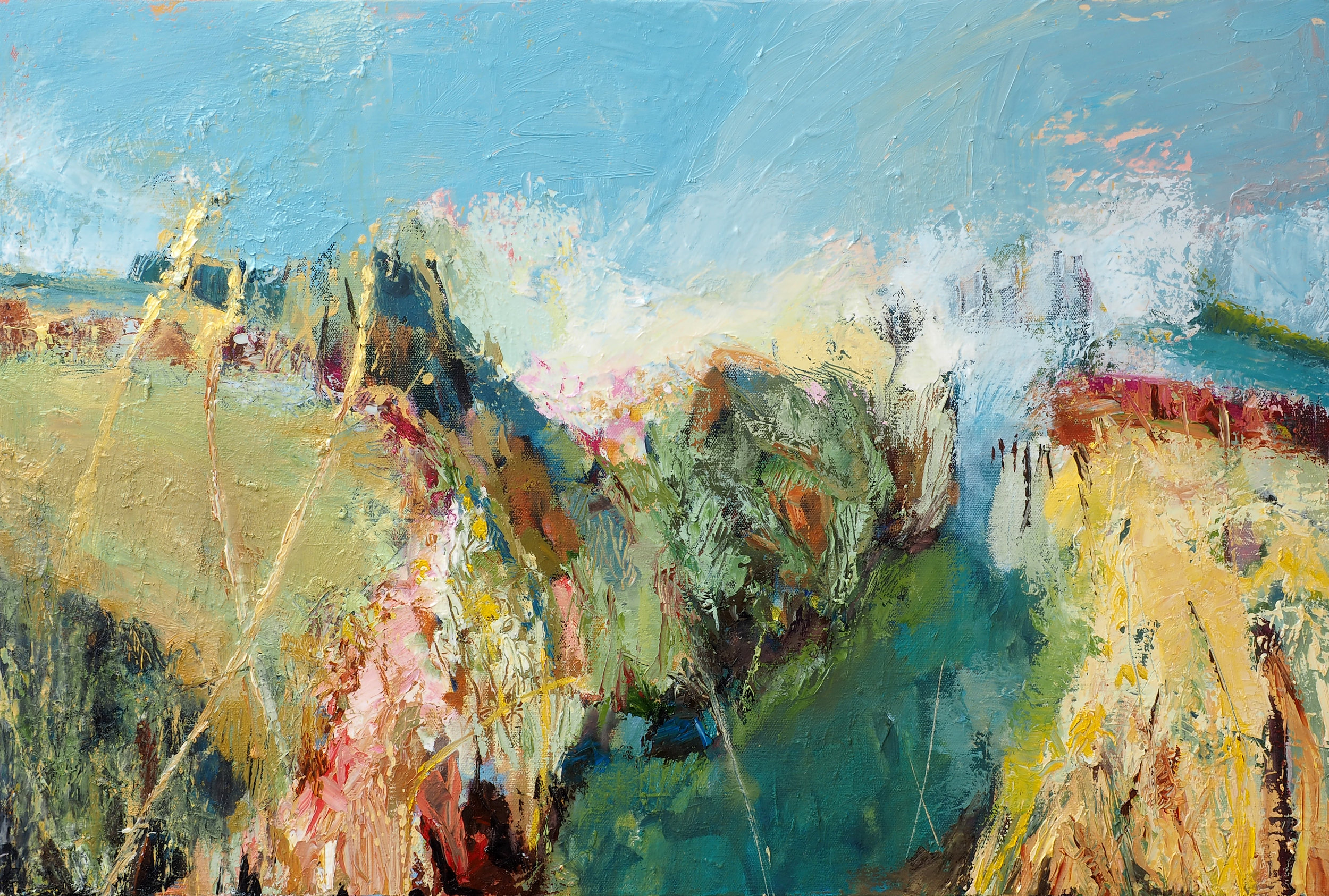 Summer,  Oil on canvas ,  50cm x 76cm  (Sold)