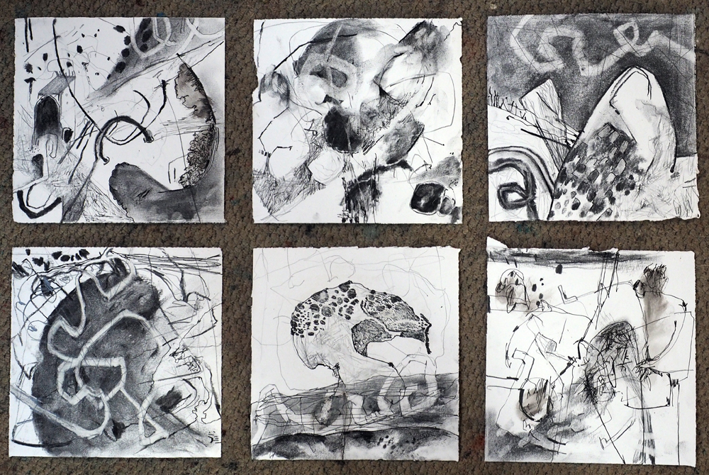 Small drawings resulting from the visit.