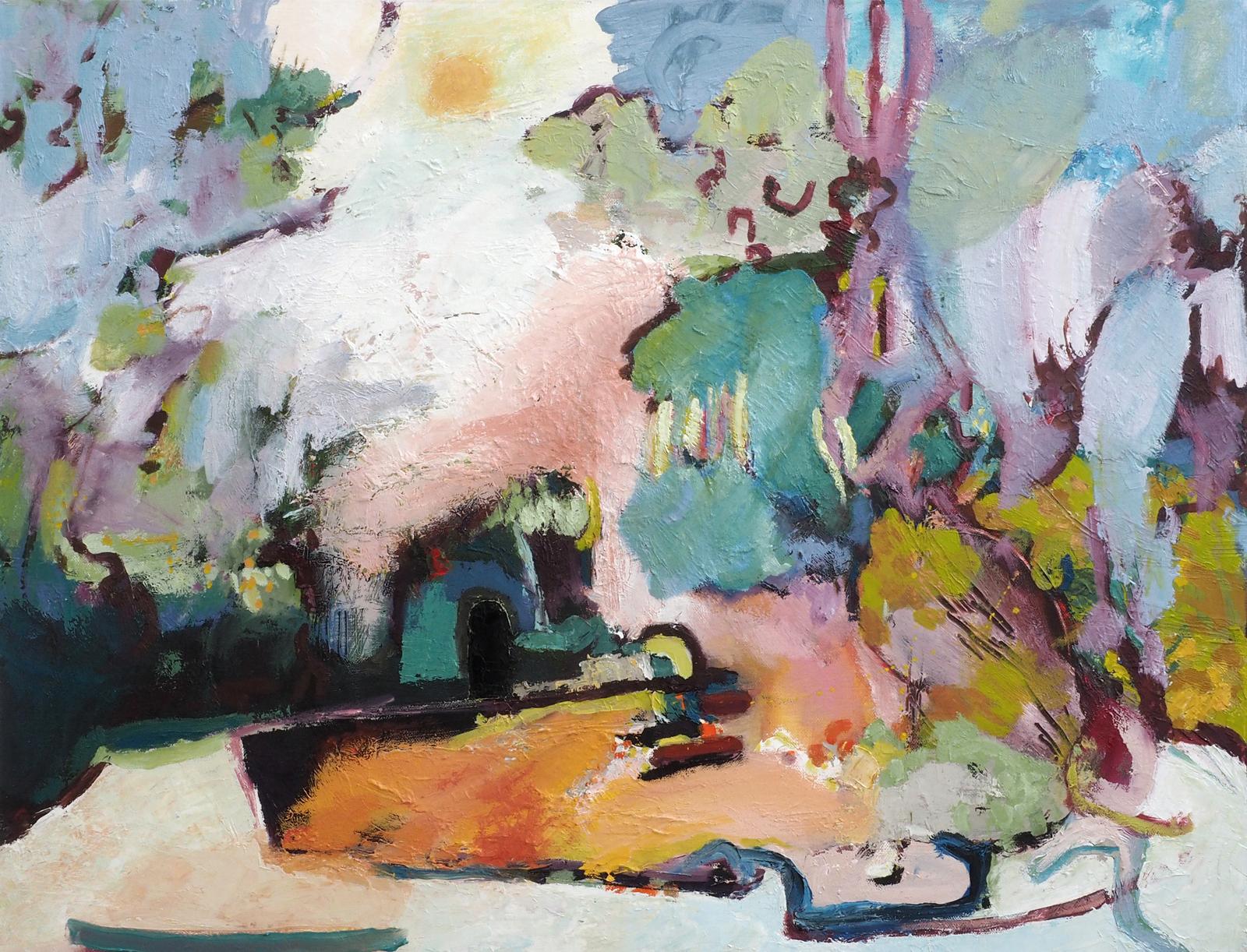Secret Garden , oil on canvas, 60cm x 80cm  (Sold)