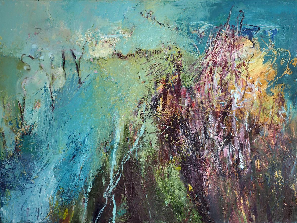 Long Meadow,  oil on canvas, 2017, 60cm x 80cm  (Sold)