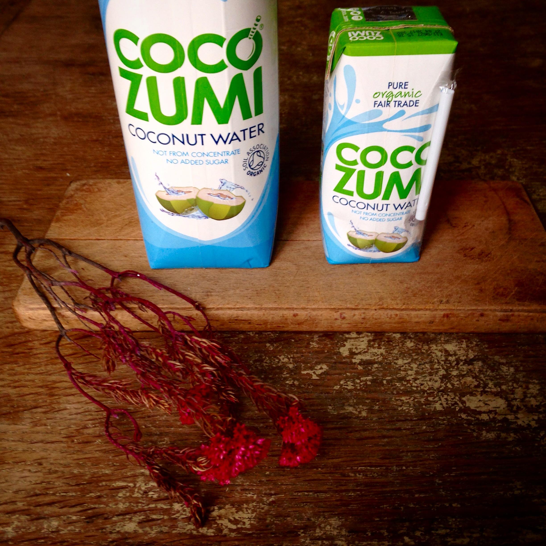 Coco Zumi organic coconut water.
