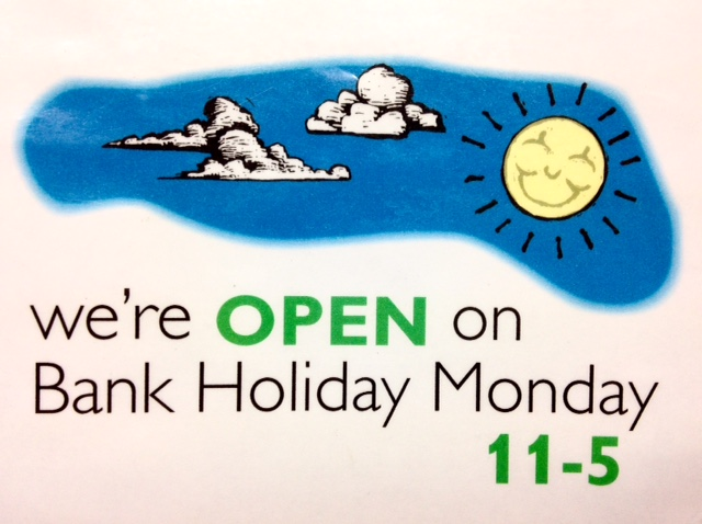 Earth Natural Foods will be open on Monday 28th August from 11AM until 5PM.