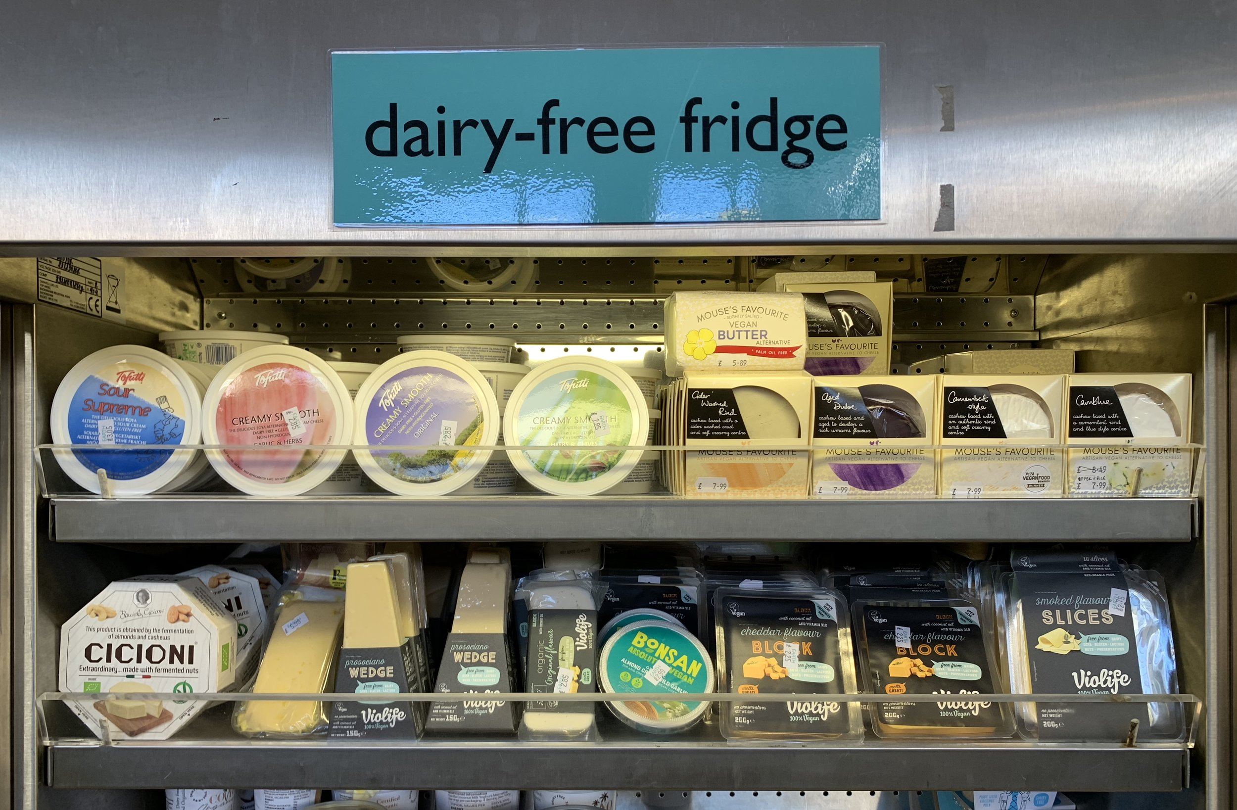We also stock an ever-increasing range of vegan cheeses, including our newest and very local supplier  Mouse's Favourite