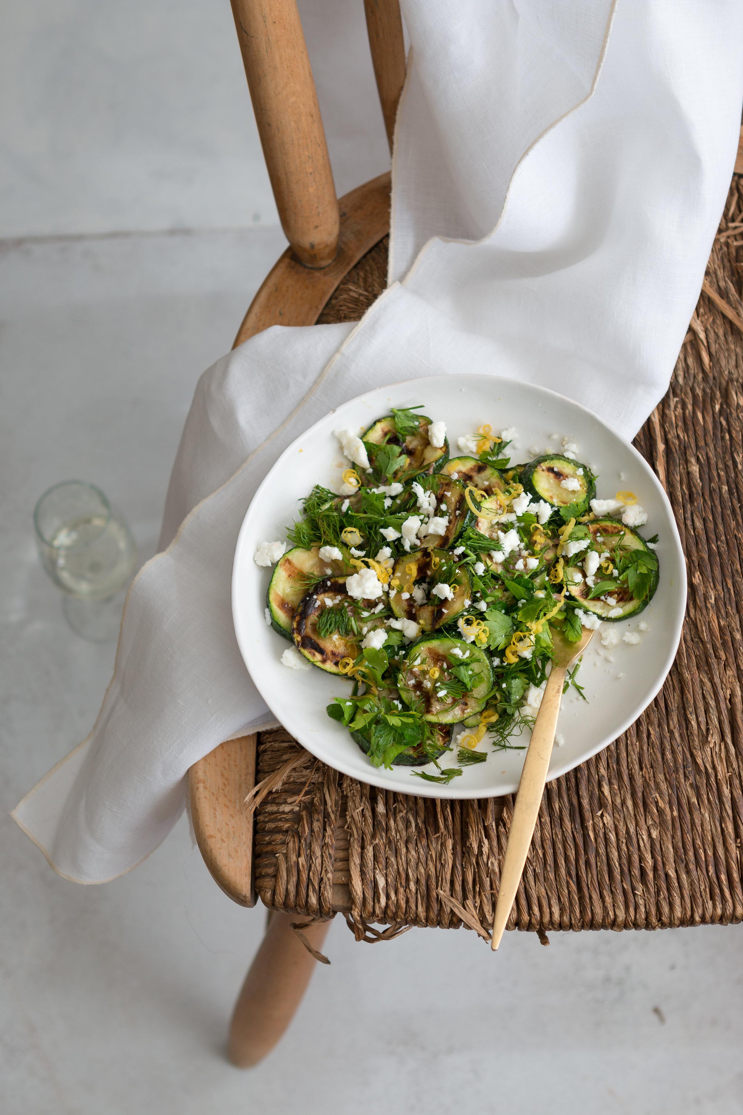 Ançuezli kabak salatası