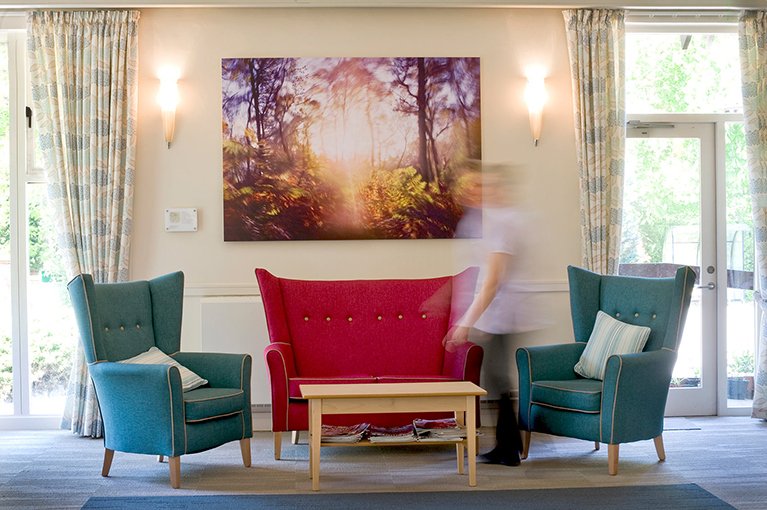 Artwork installed in the St Giles Hospice