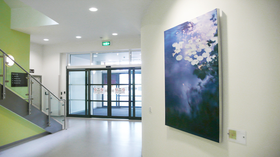 Artwork installed in the Womens' Centre at the Gloucester Royal Hospital