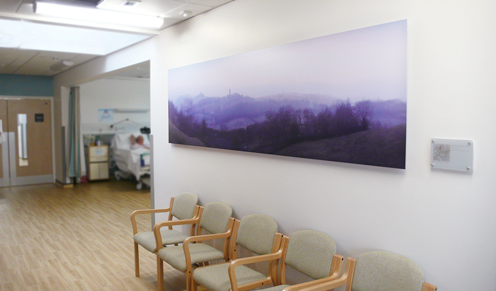 installed work commissioned for Tenbury Hospital, Worcestershire