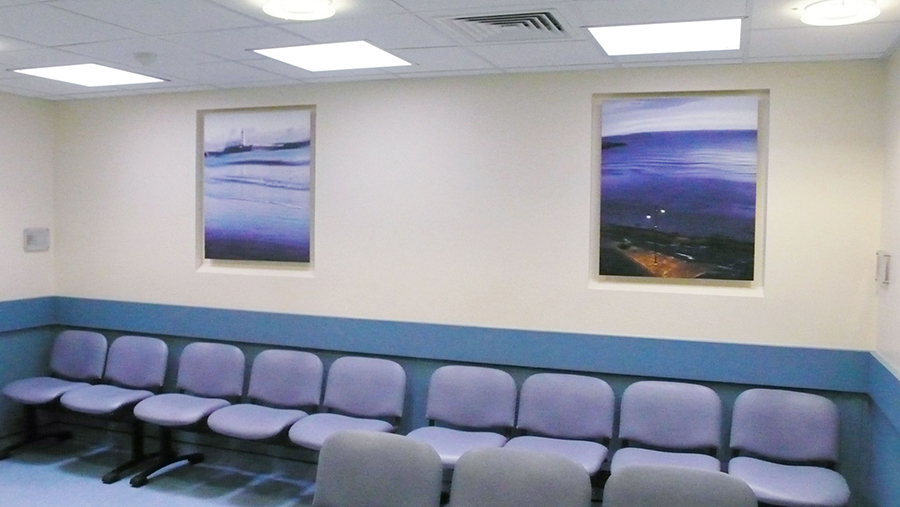 Artworks installed in Scarborough Hospital Emergency Ward