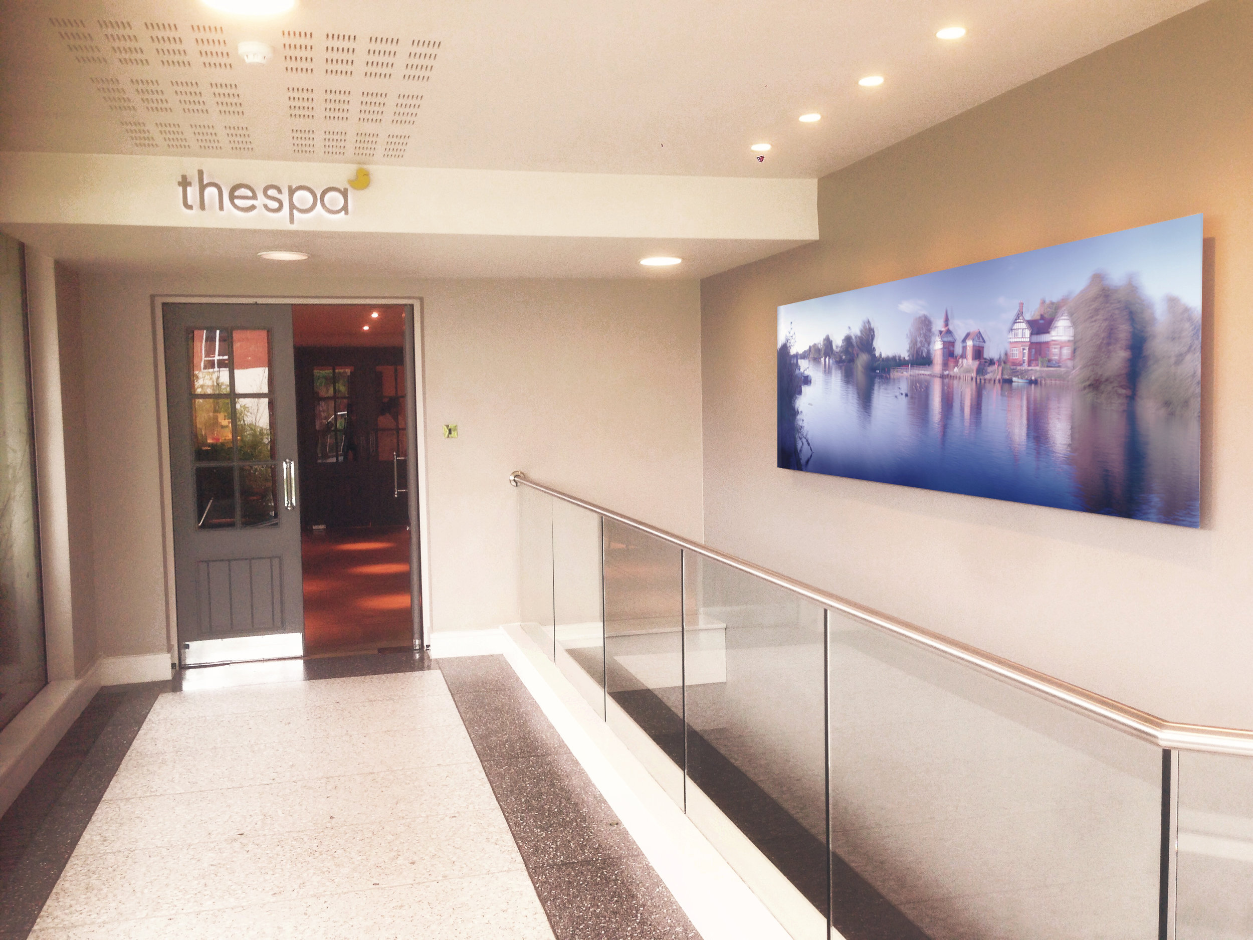 Artwork installed in the Runnymede Spa