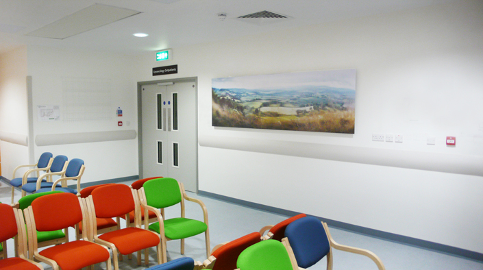 Installed work at Gloucester Royal Hospital - Womens' Centre