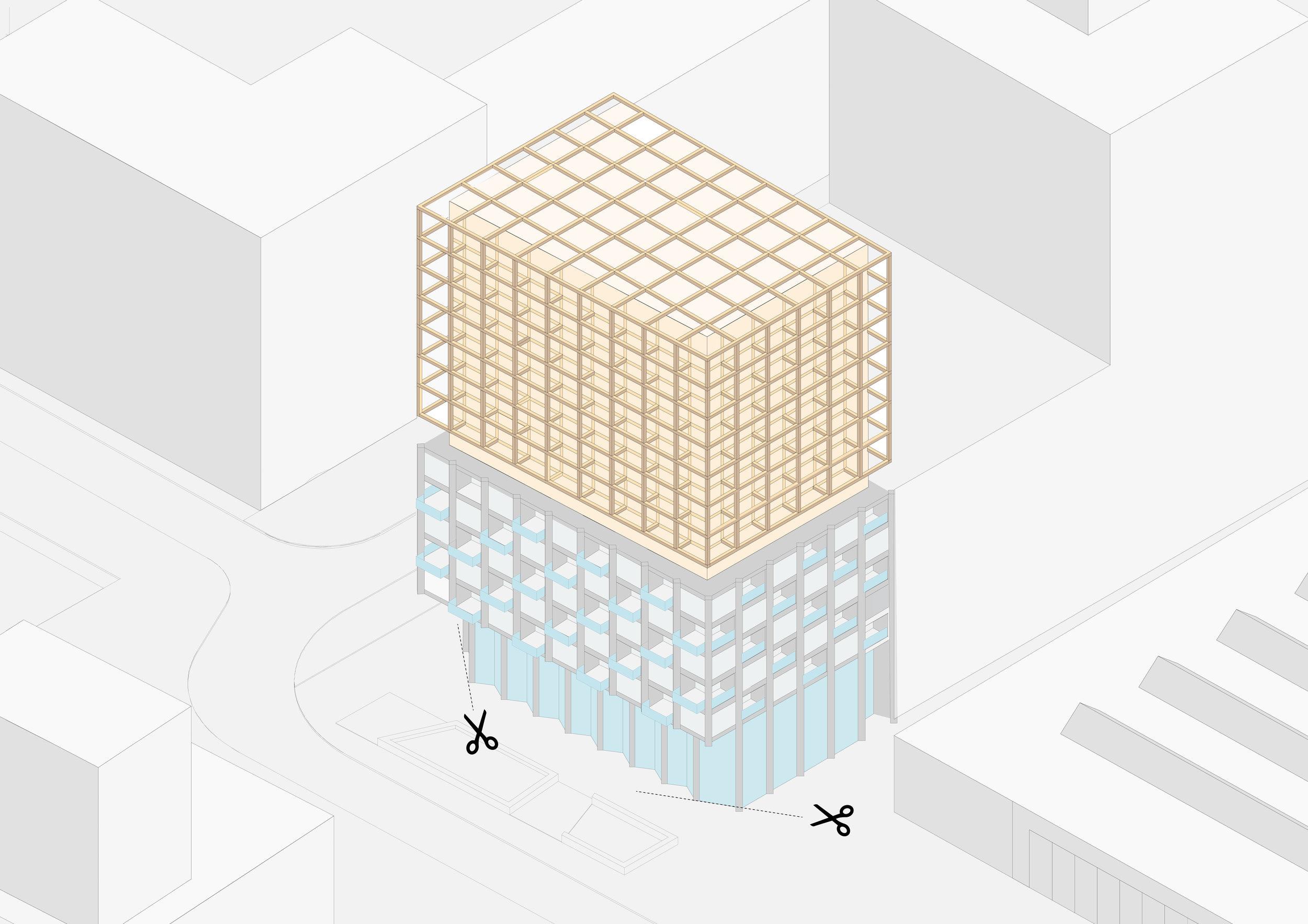 Elevation design: three layers