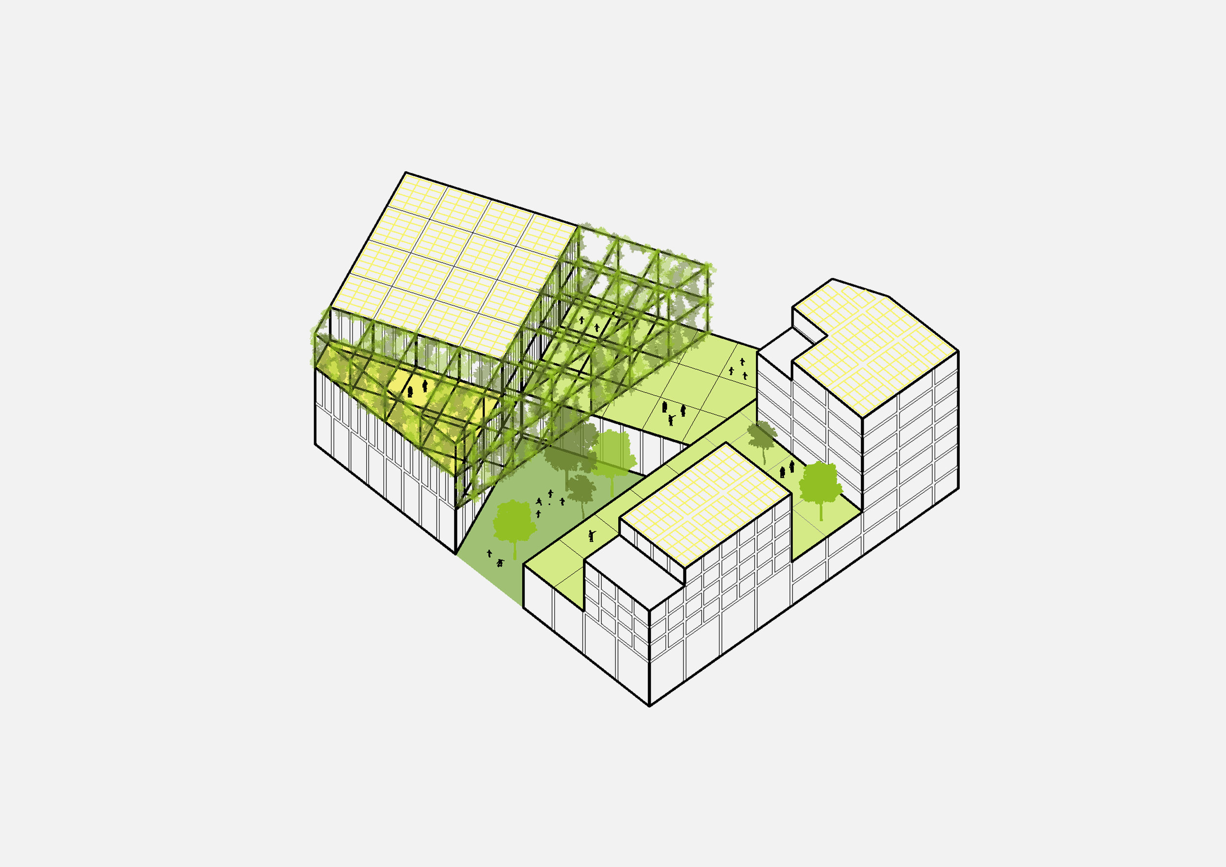 Nature inclusivity in a 3D elevation concept