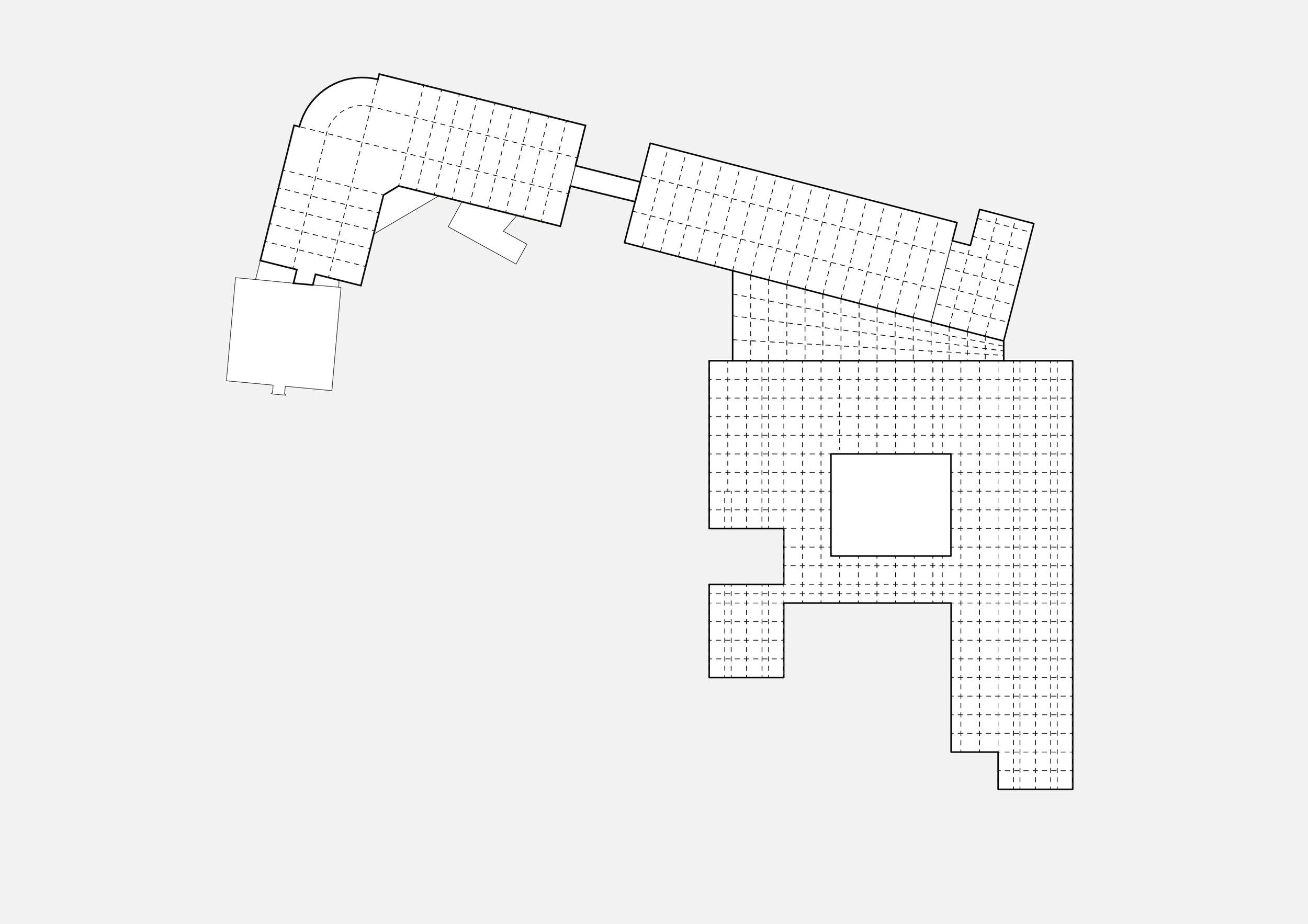 Existing buildings with a clear grid