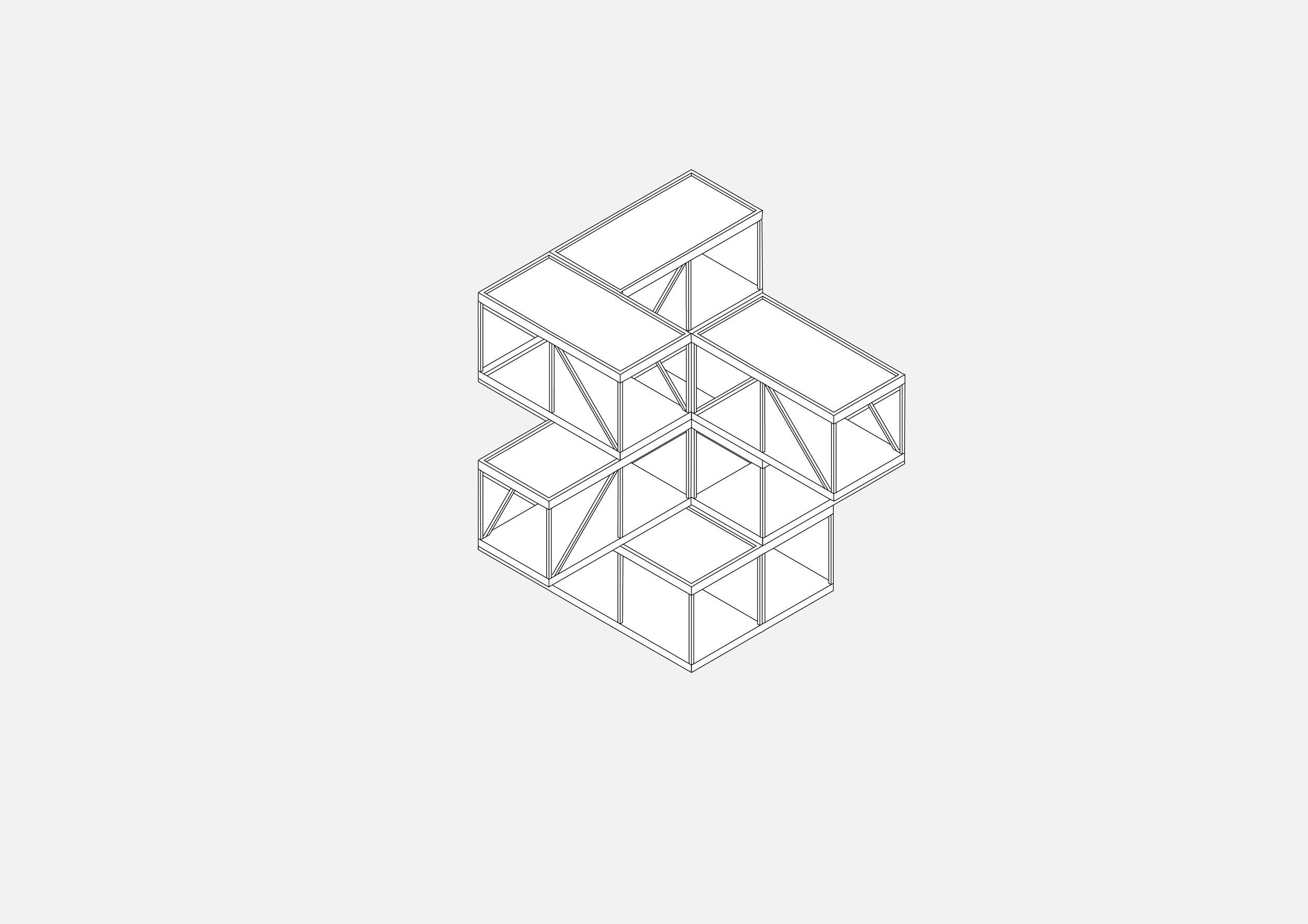 3x3 meters Modular Structure