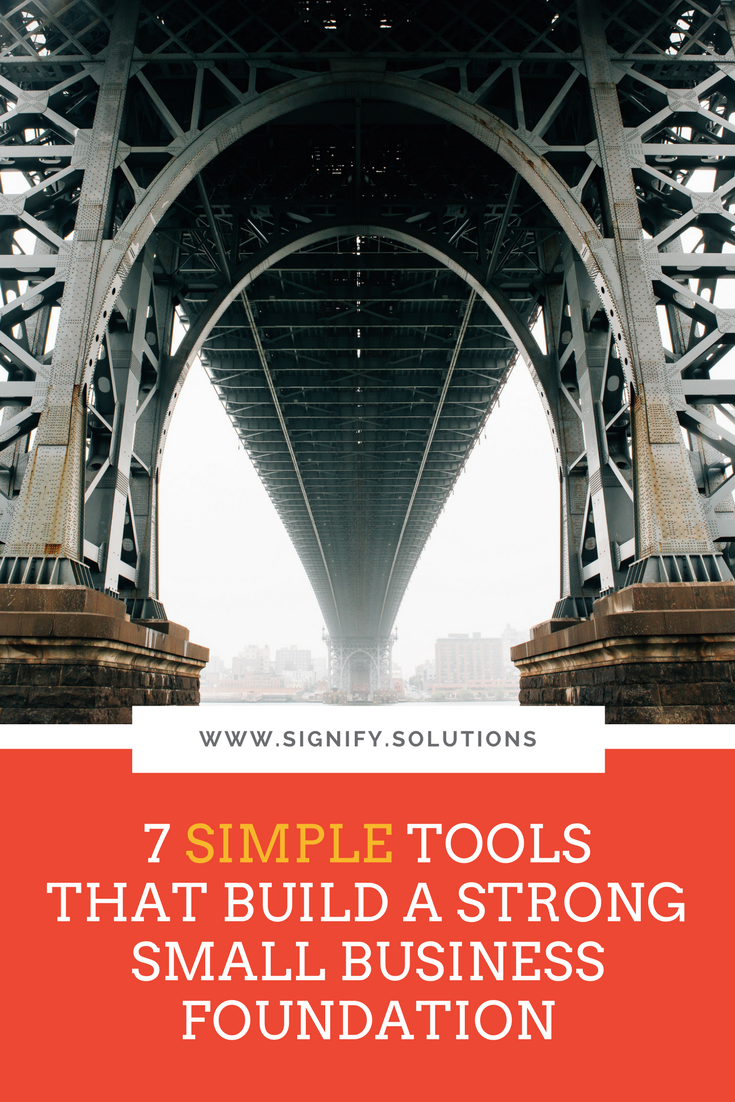 Here are seven simple tools that build a strong  small business  foundation. Think of this as putting your best, professional foot forward. You may consider them to be the next progression of your nonprofit or social enterprise, or you may just think of them as resetting to zero because they've been on your list for a while. Either way, they'll not only up your game, but improve people's perceptions of your organization.