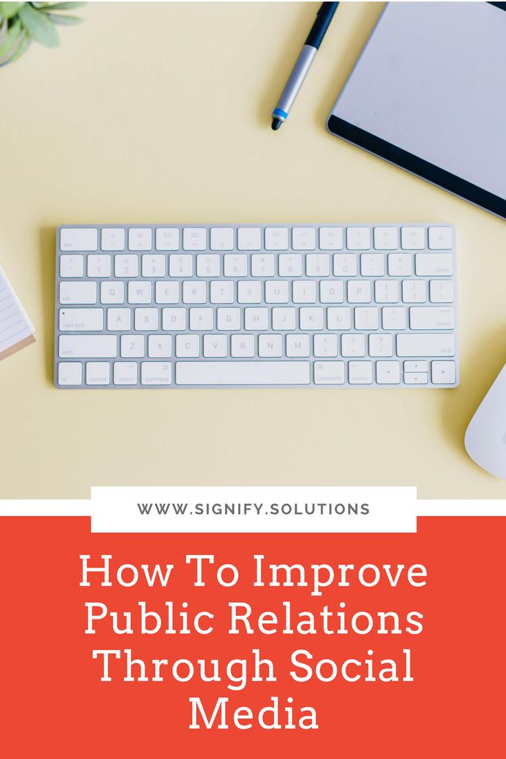 How To Improve Public Relations Through Social Media