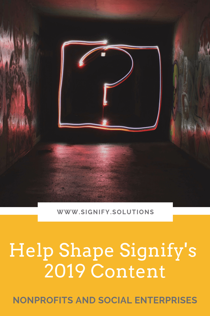 Help Shape Signify's 2019 Content! Suggest blog topics or become a guest writer!
