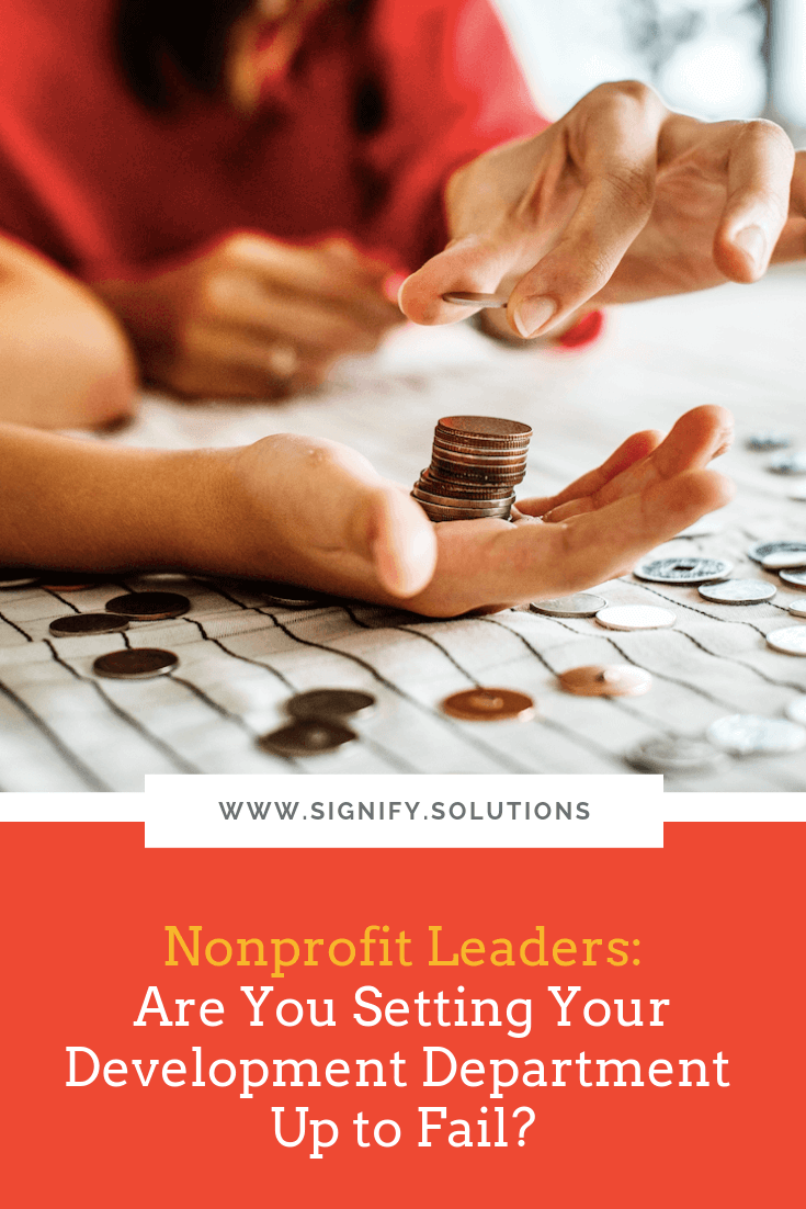 """""""Marketing"""" and """"development"""" aren't the same words for good reason. Yes, the absolutely have some overlap, but they often require a different mindset and skill set. That's where nonprofits can easily run into trouble."""