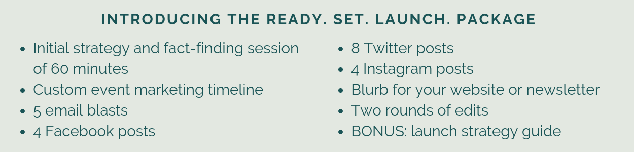 Introducing the Ready. Set. Launch. Package