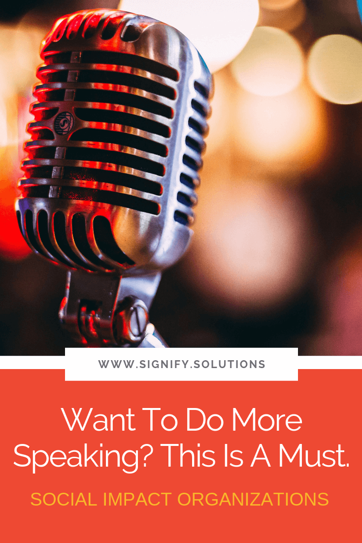 Creating a media kit is essential for any speaker. It doesn't matter if you're speaking on large stages or small podcasts, this tool will make life easier for both you and your host.
