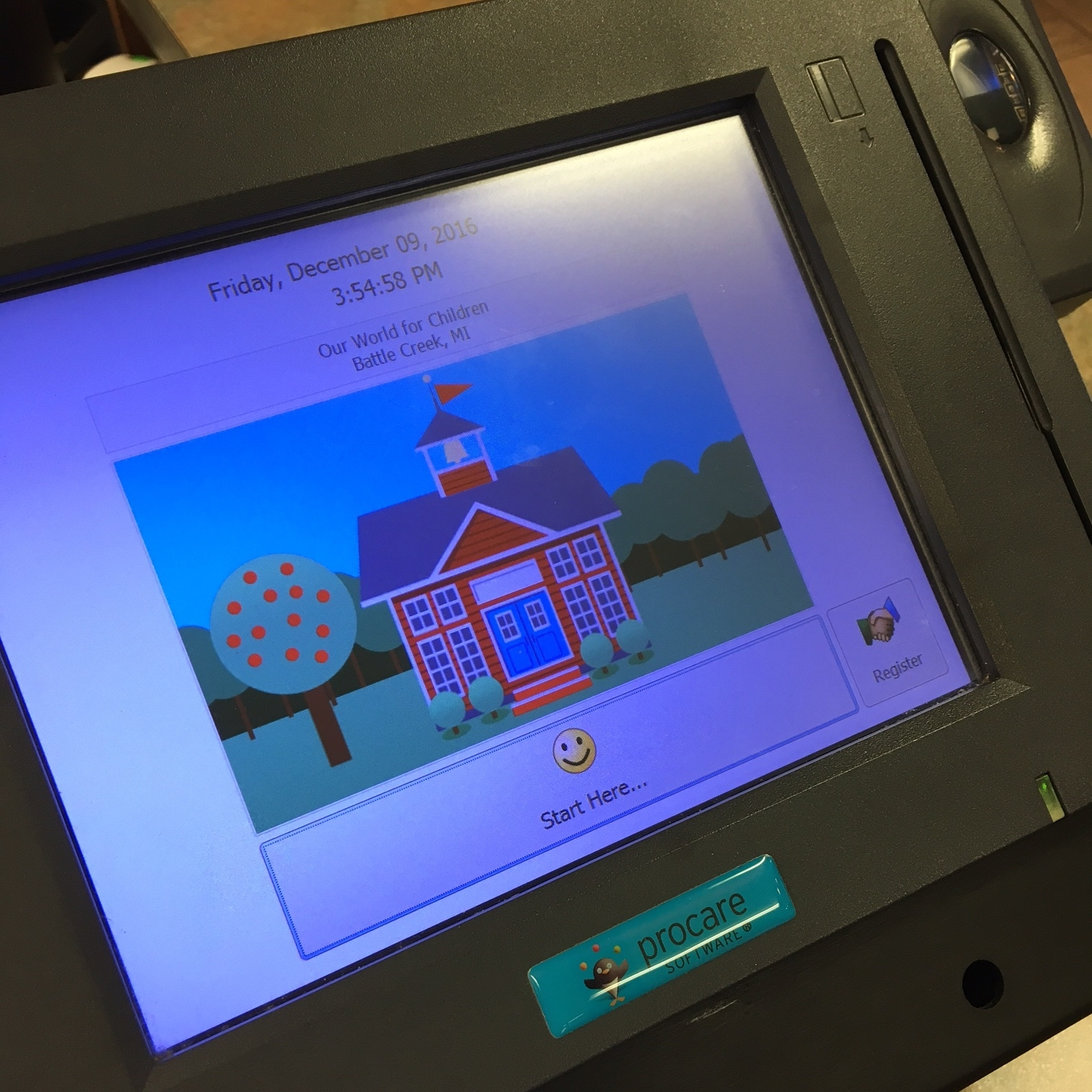 Procare Touchscreen with Biometric ID pad
