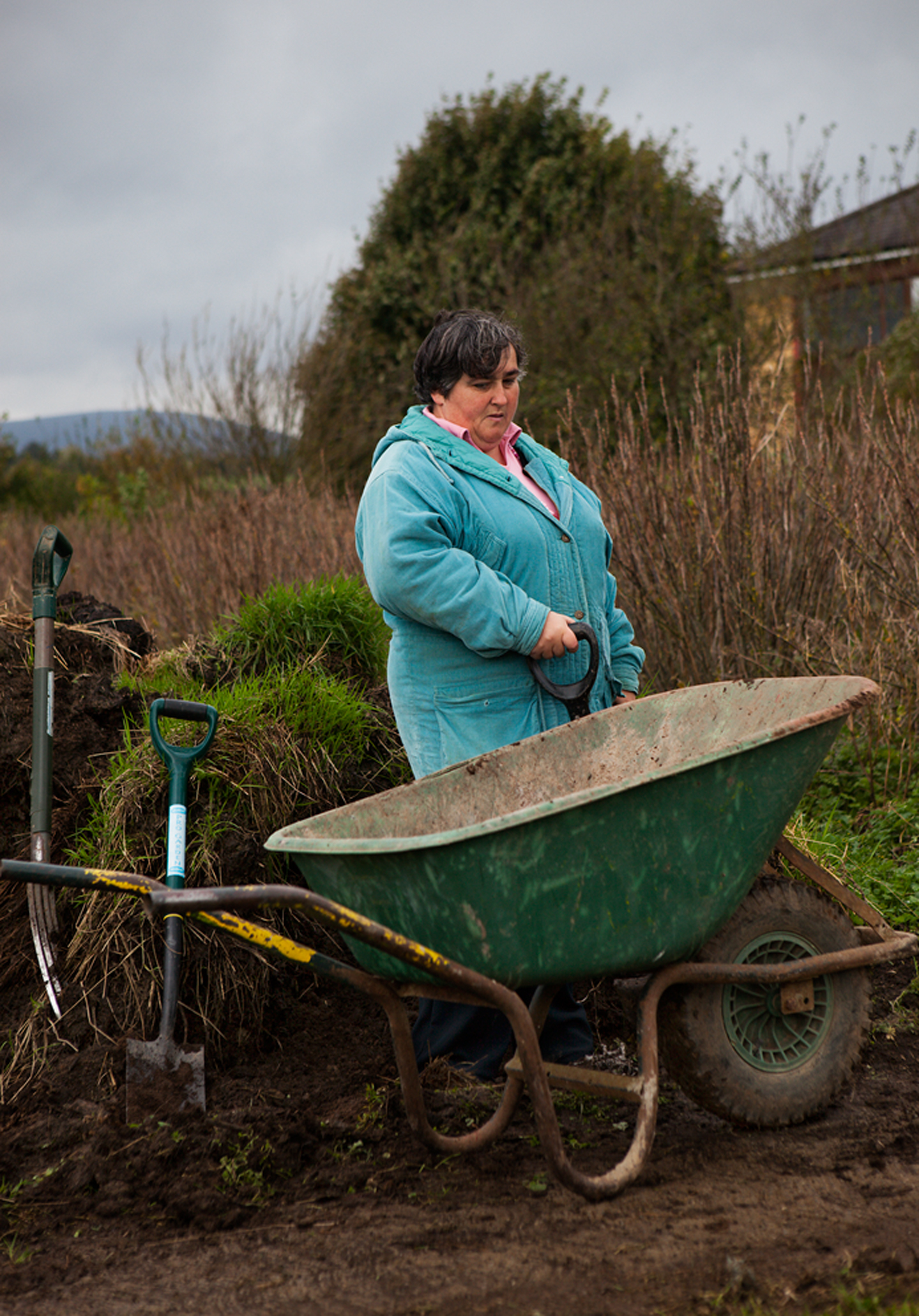 Mary and the Wheelbarrow