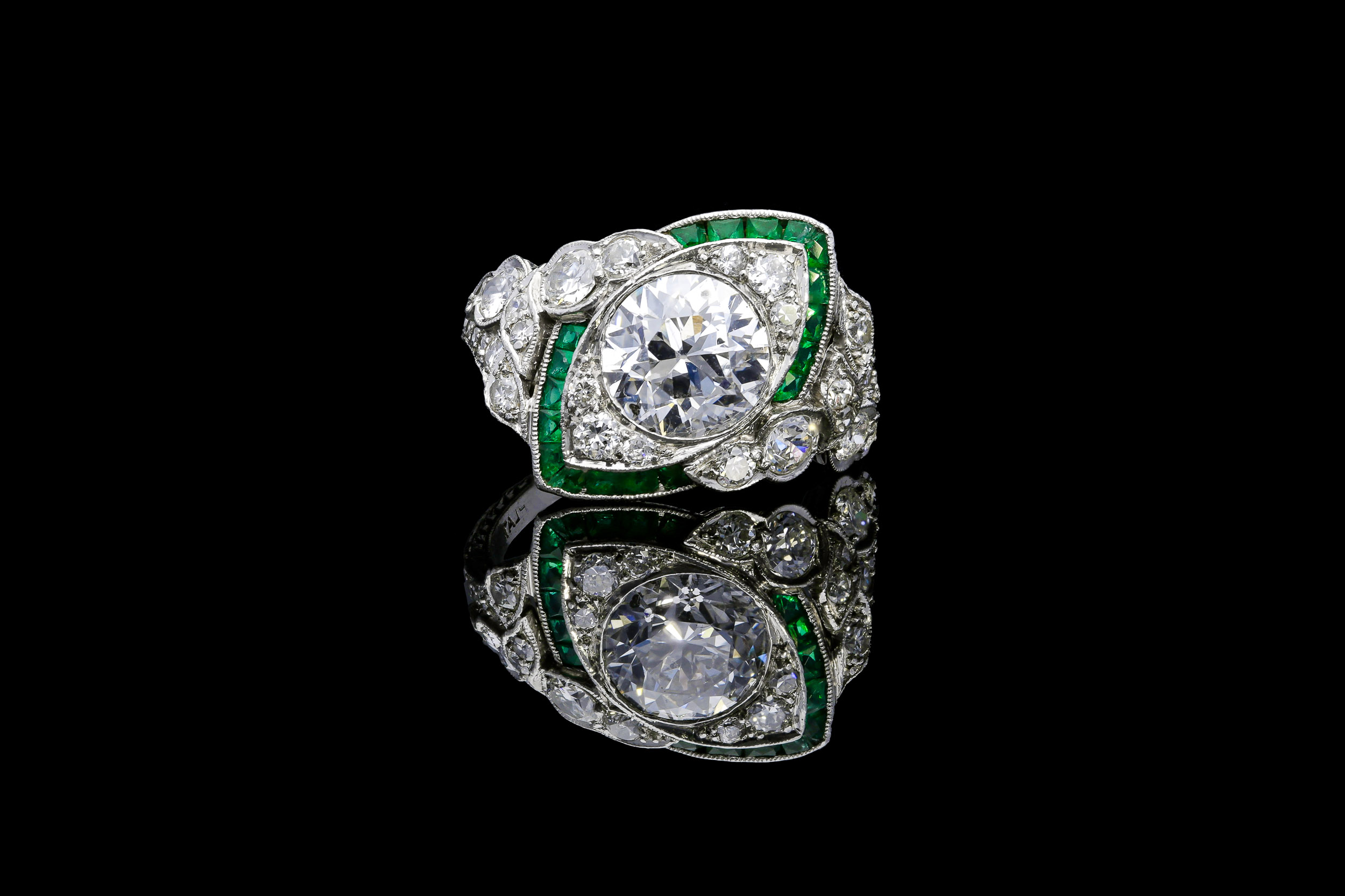 Art Nouveau Art Deco crossover ring | £25450