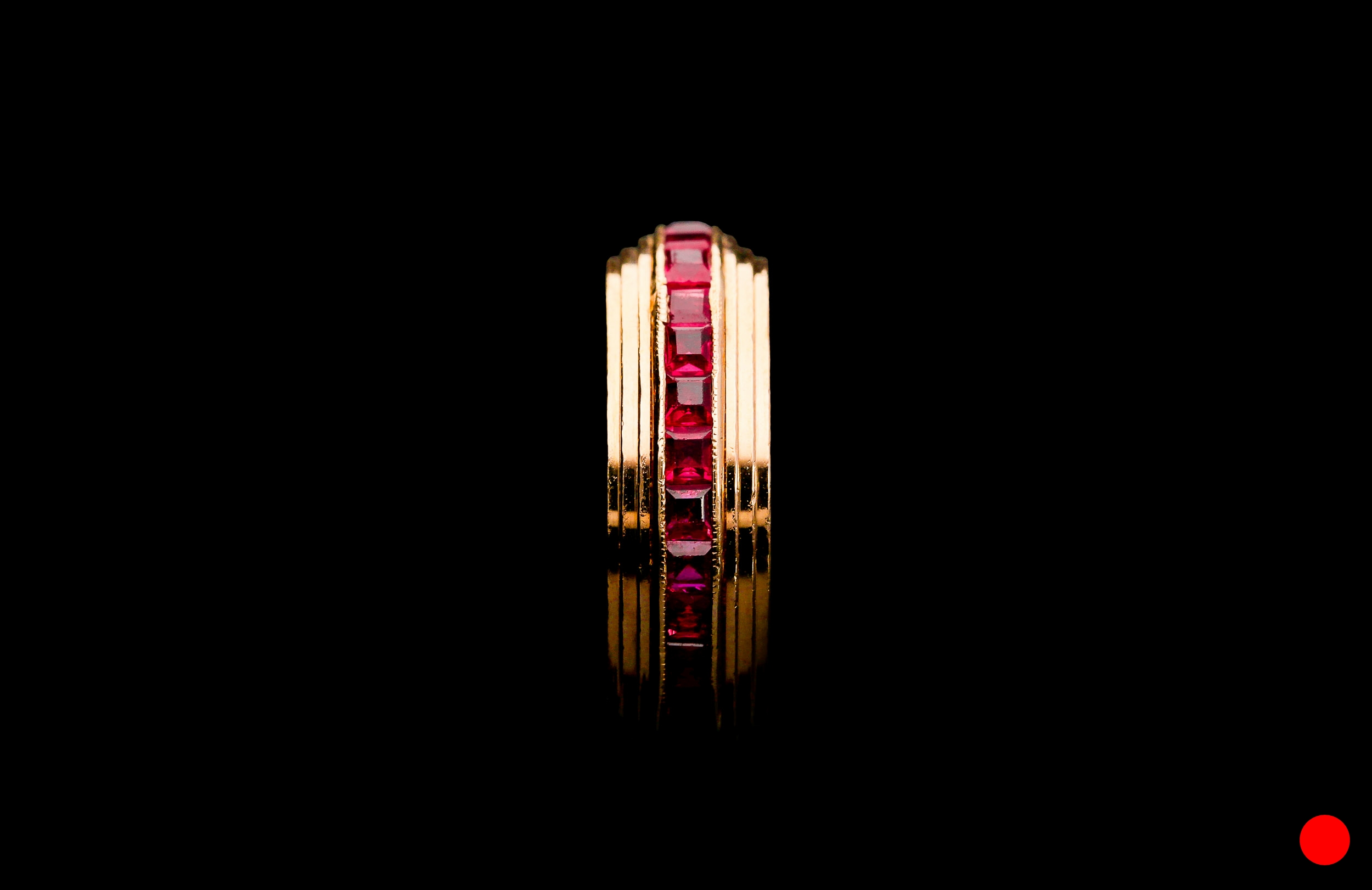 A 1950's calibre cut ruby eternity ring | £2500