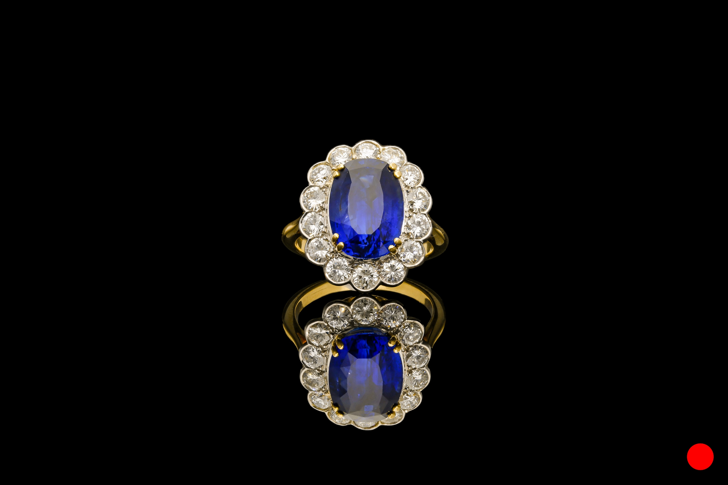A Burmese sapphire and diamond ring | £47500