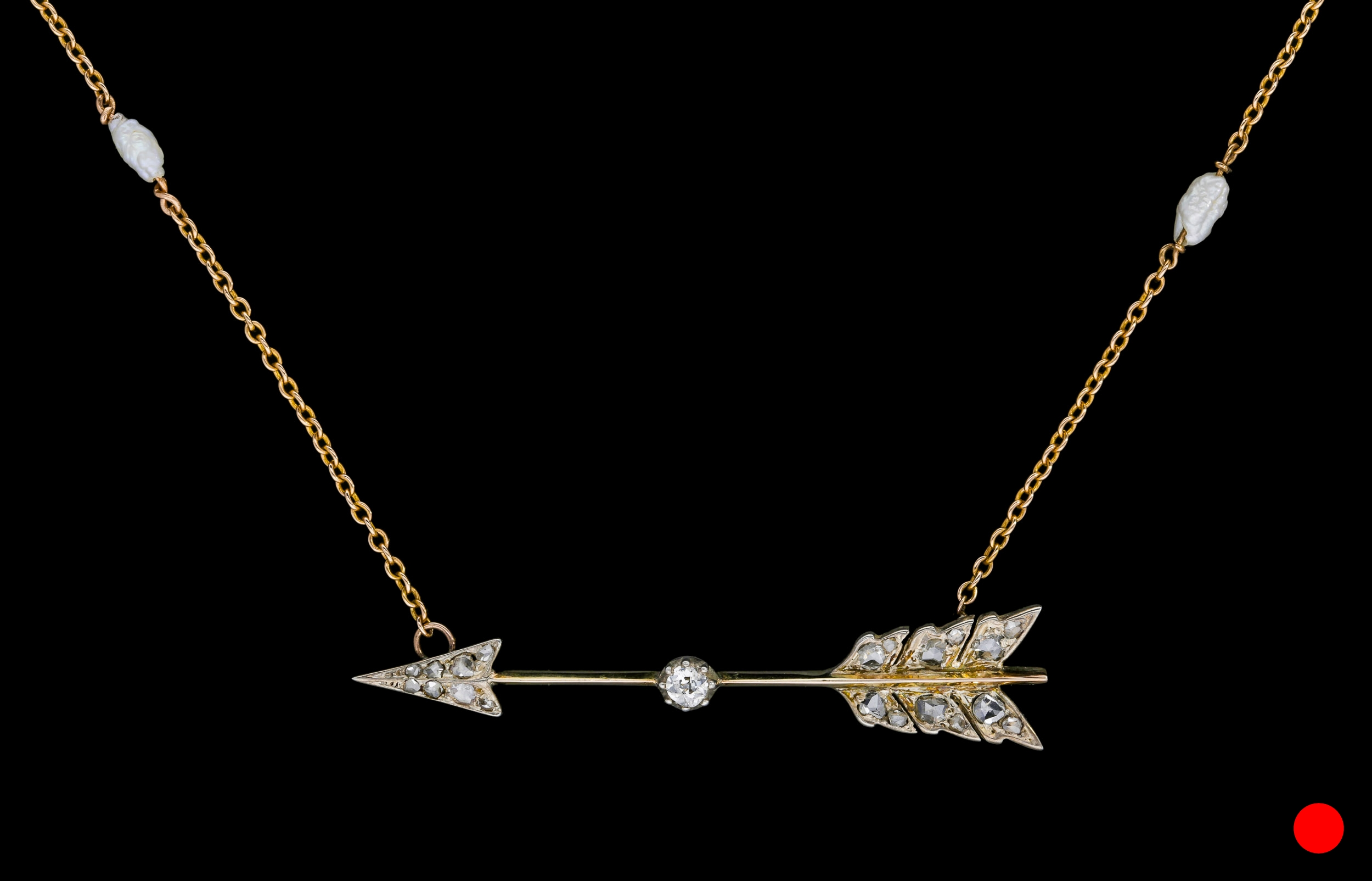 A Victorian diamond set arrow necklace set | £2450