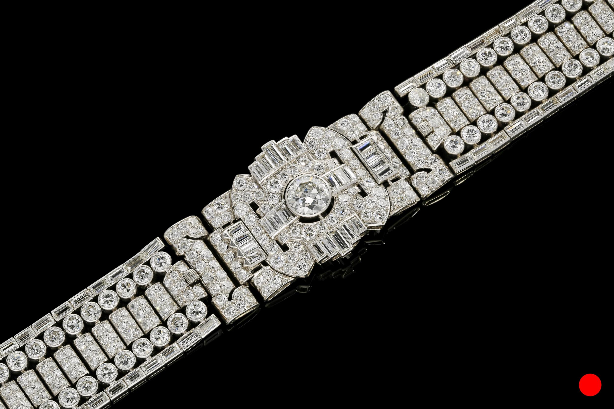 An Art Deco bracelet brooch by Drayson | £56500