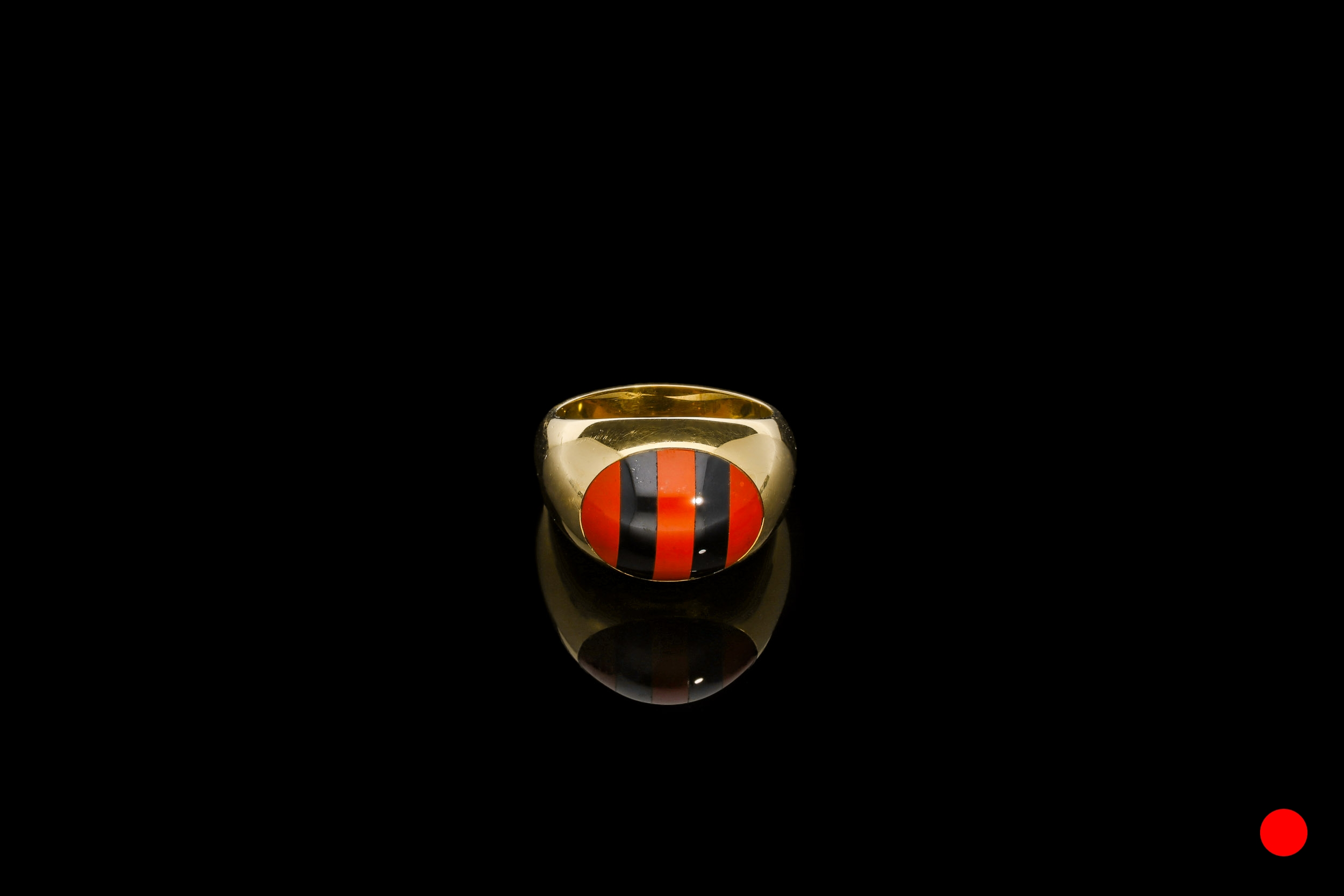 A fantastic vintage Tiffany onyx and carnelian signet ring set | £1750