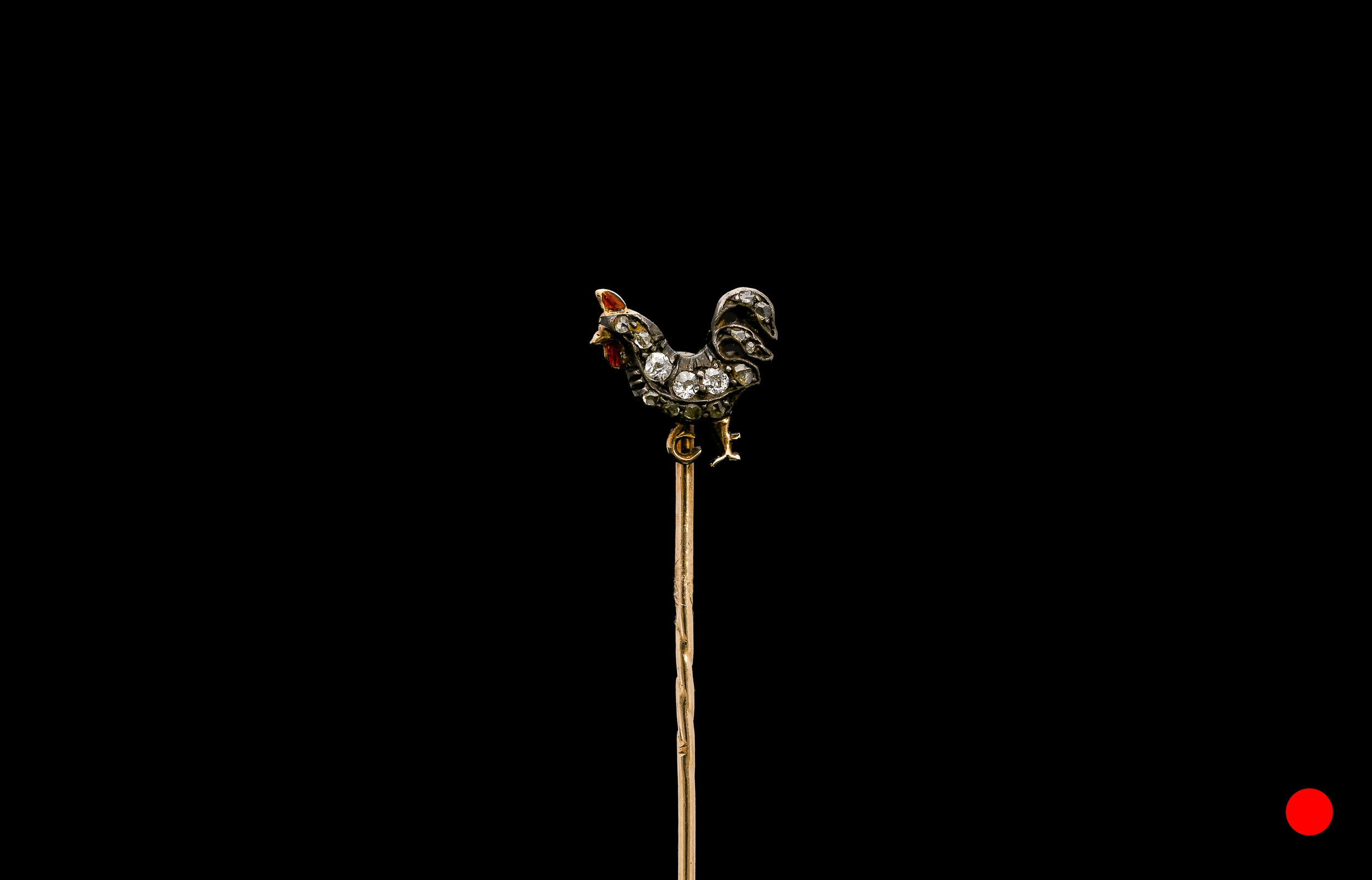A Victorian fighting cock stick pin | £700