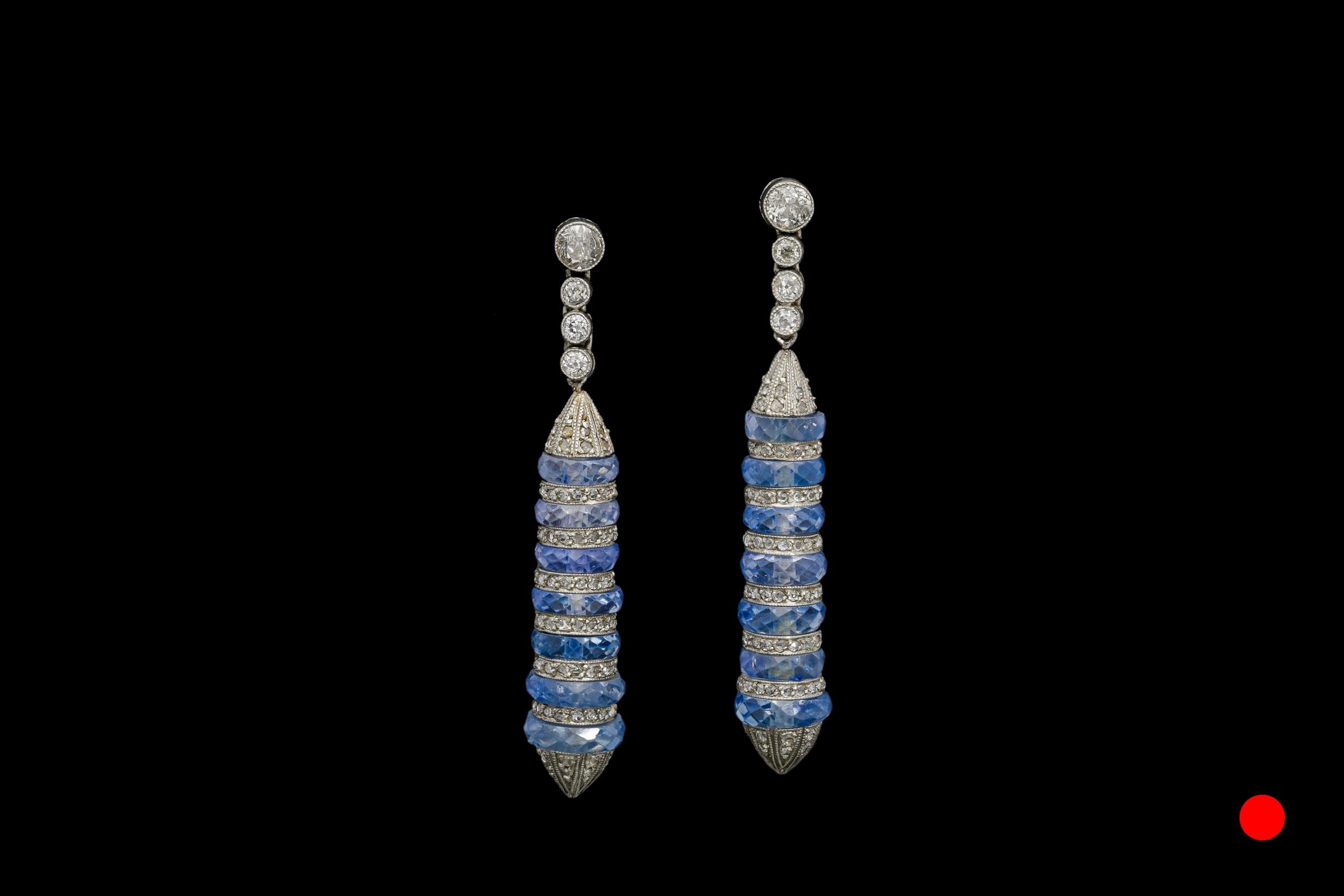 A fantastic pair of sapphire and diamond ear-pendants | £7140