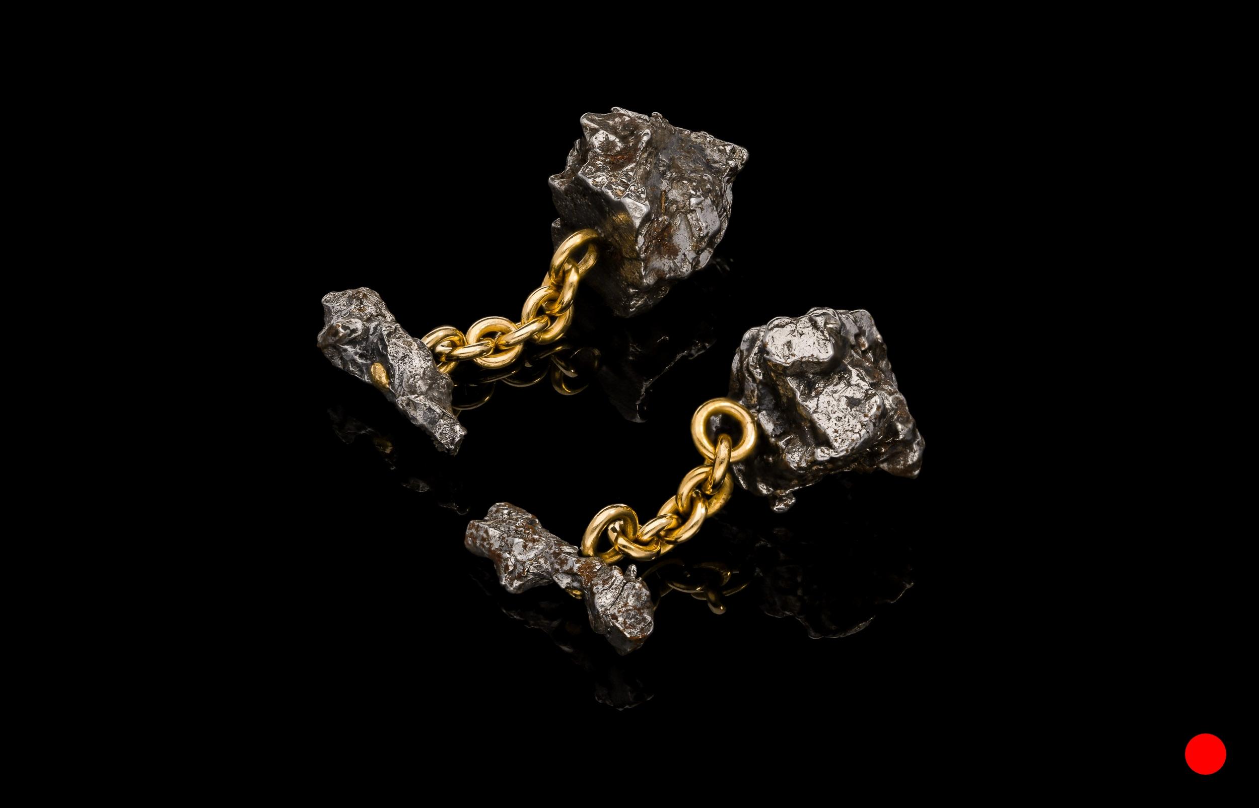 A pair of Siberian meteorite cufflinks | £3080