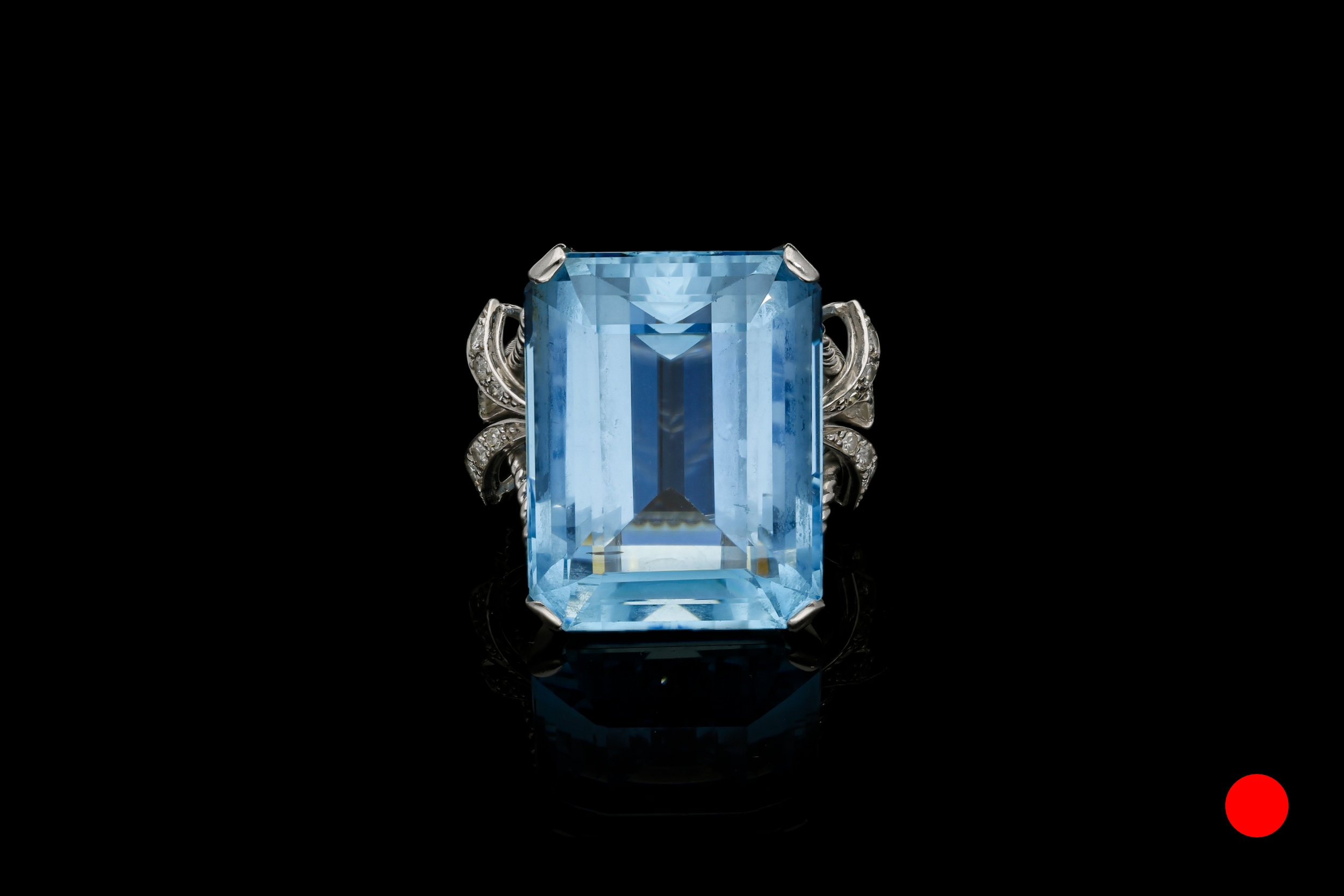 A 1950's aquamarine & diamond cocktail ring | £7450