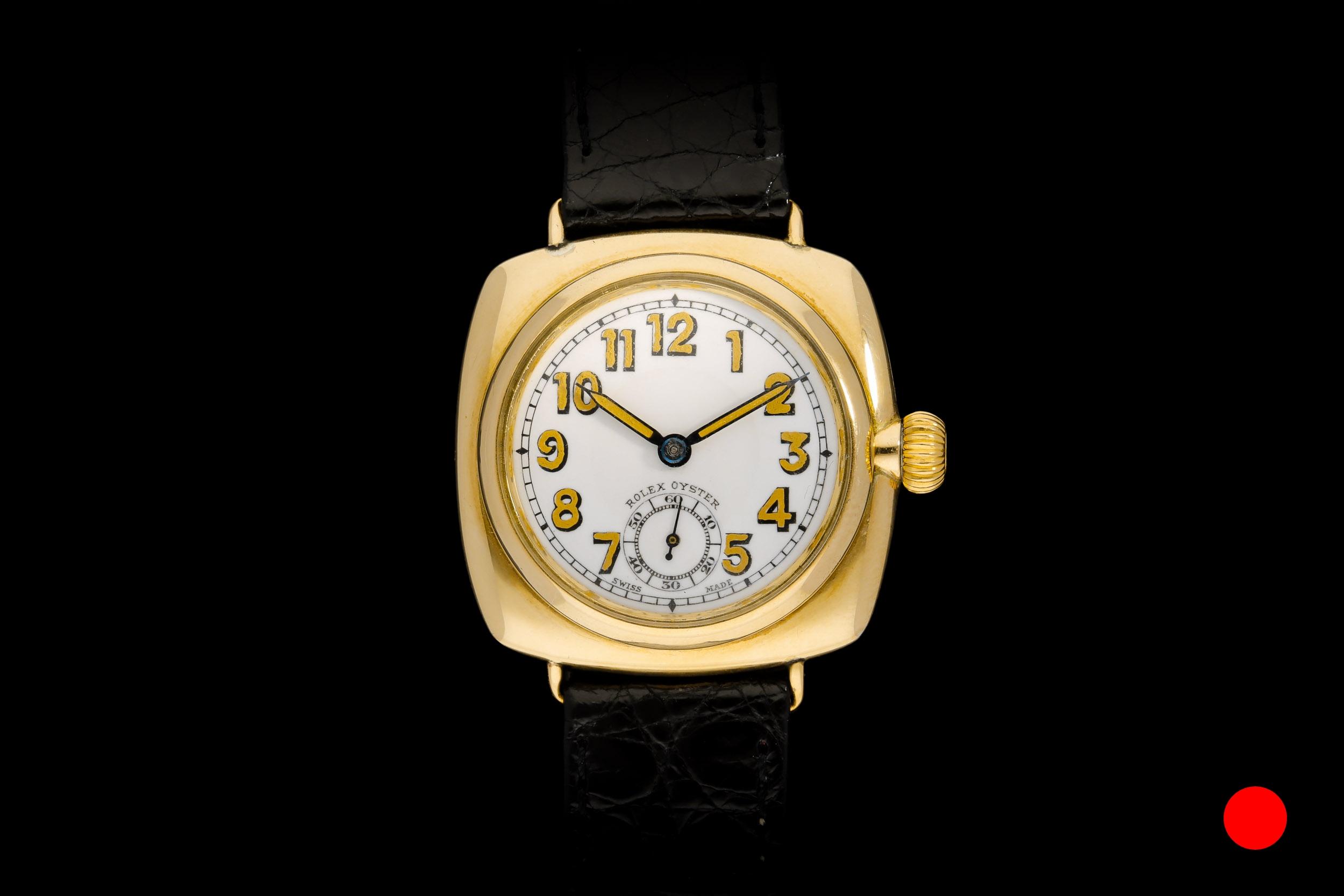 A 1934 9ct Cushion Oyster Rolex watch | £6550