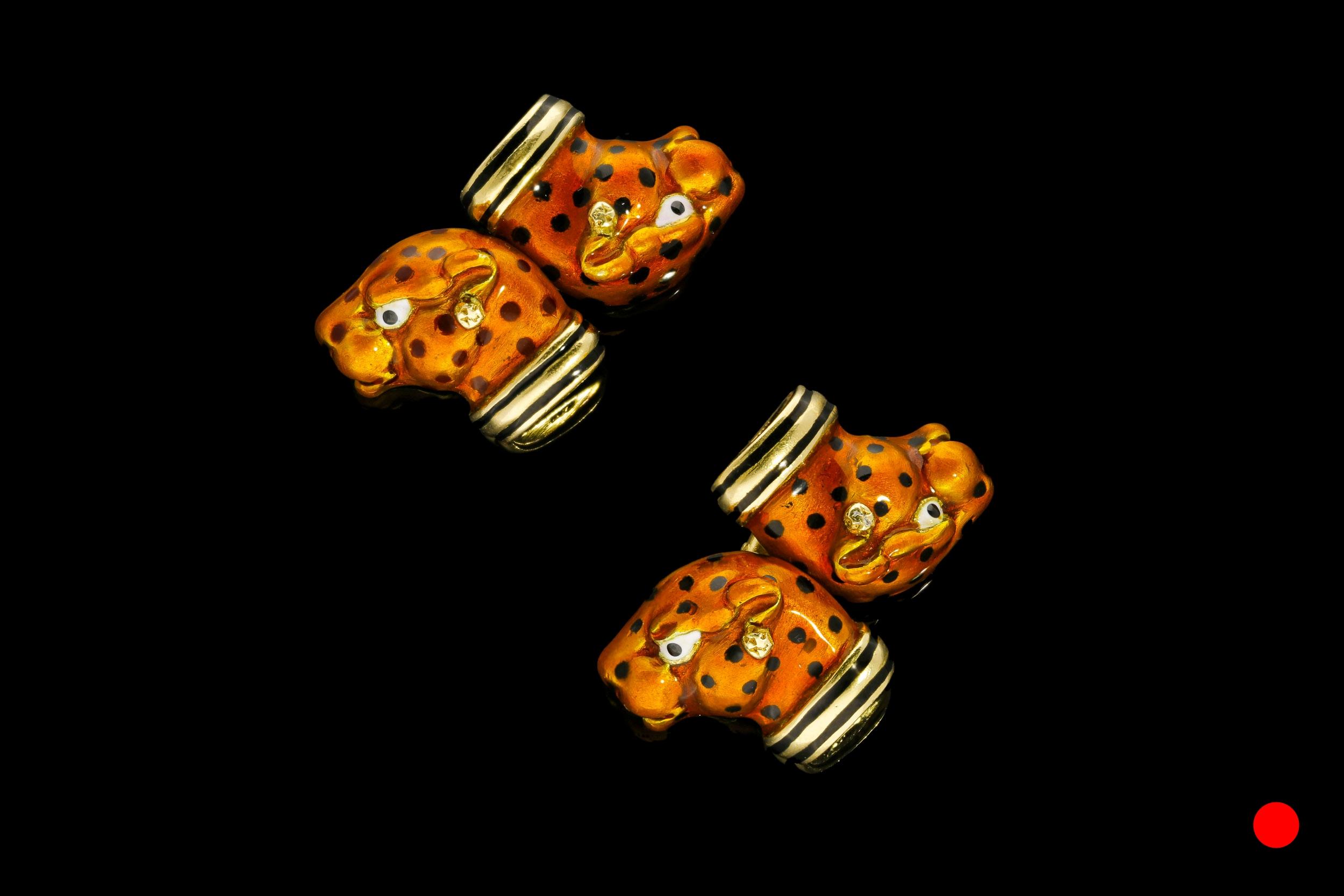 A 1960's Frascarolo leopard cufflinks | £3600