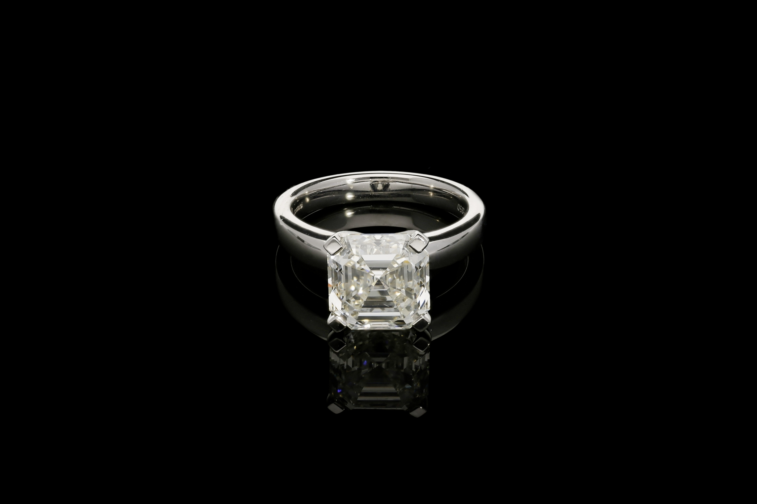 A 5.01ct Asscher cut diamond ring | £76900