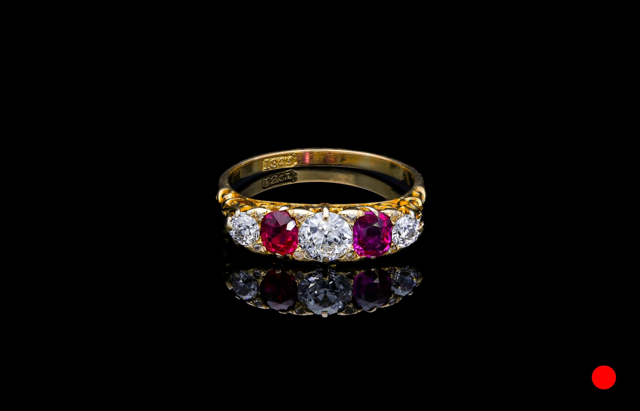 A Victorian Burmese ring   £6250