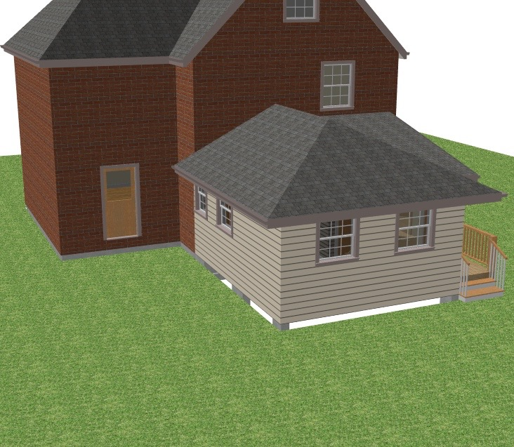 Render of In-Law Suite addition