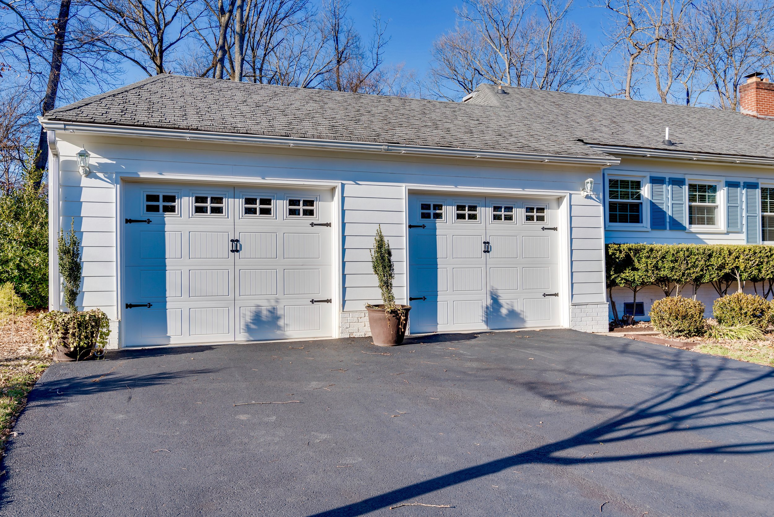 Carport converted into double garage