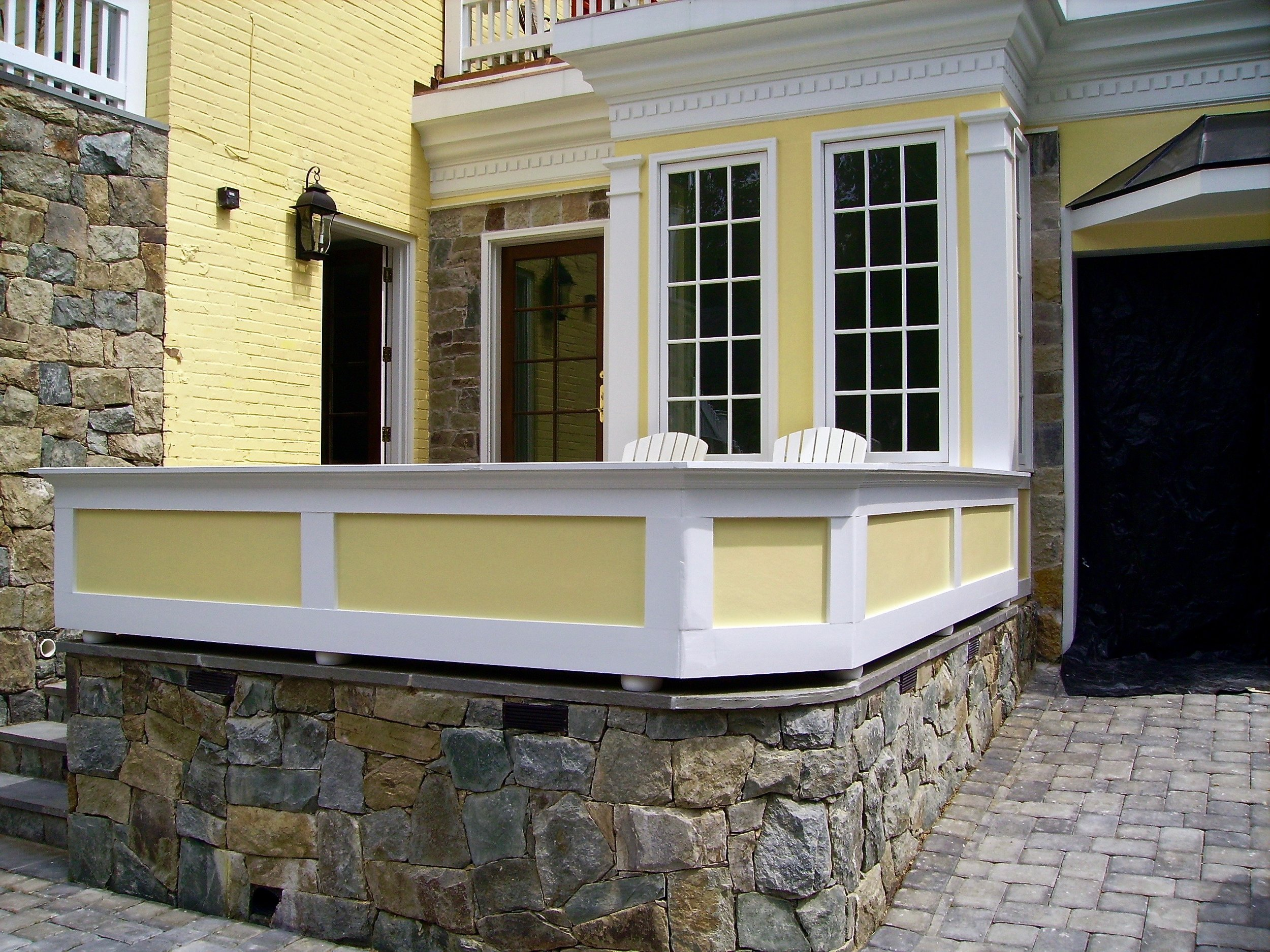 An attractive, semi-enclosed patio