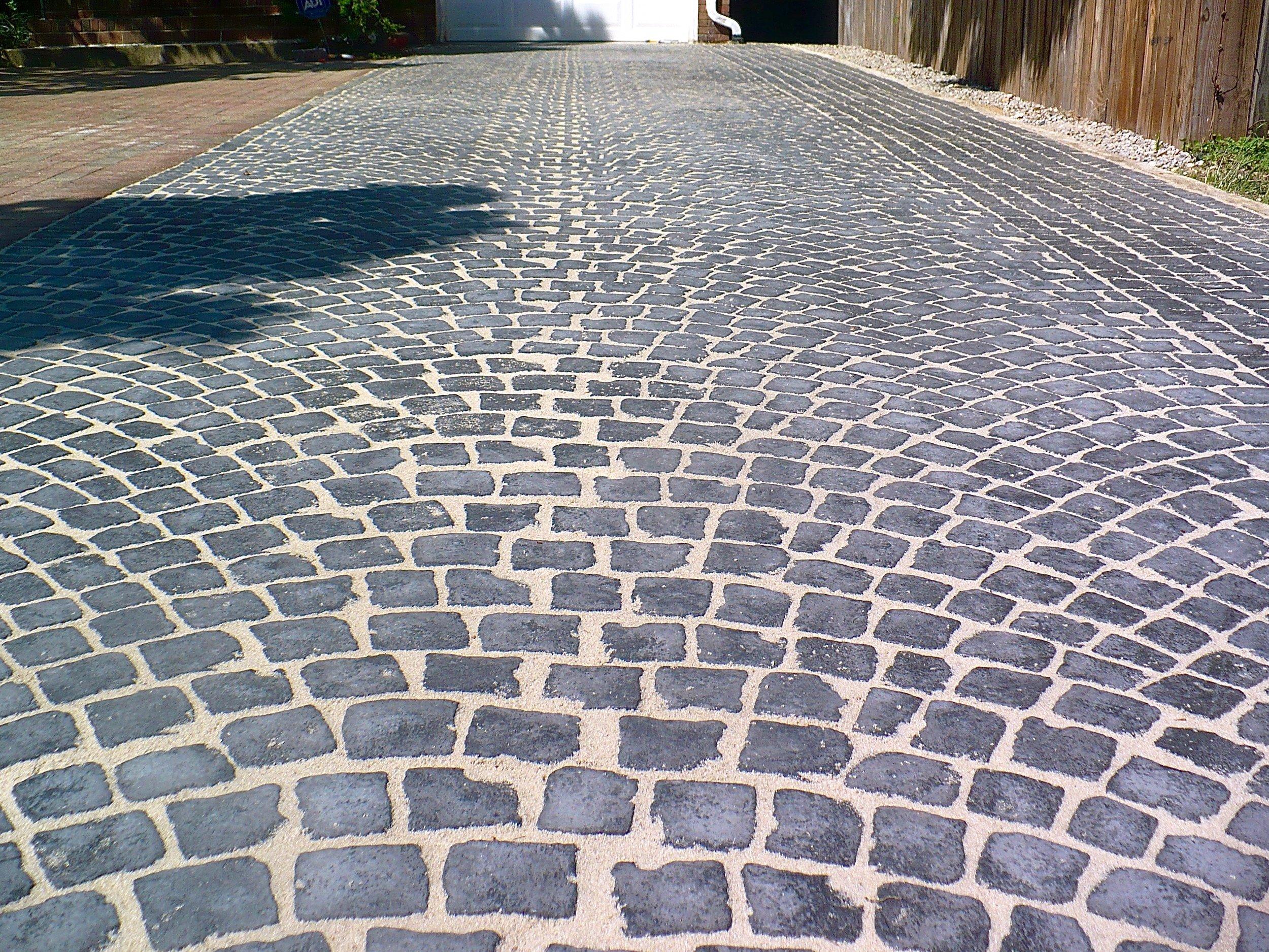A newly-refinished driveway