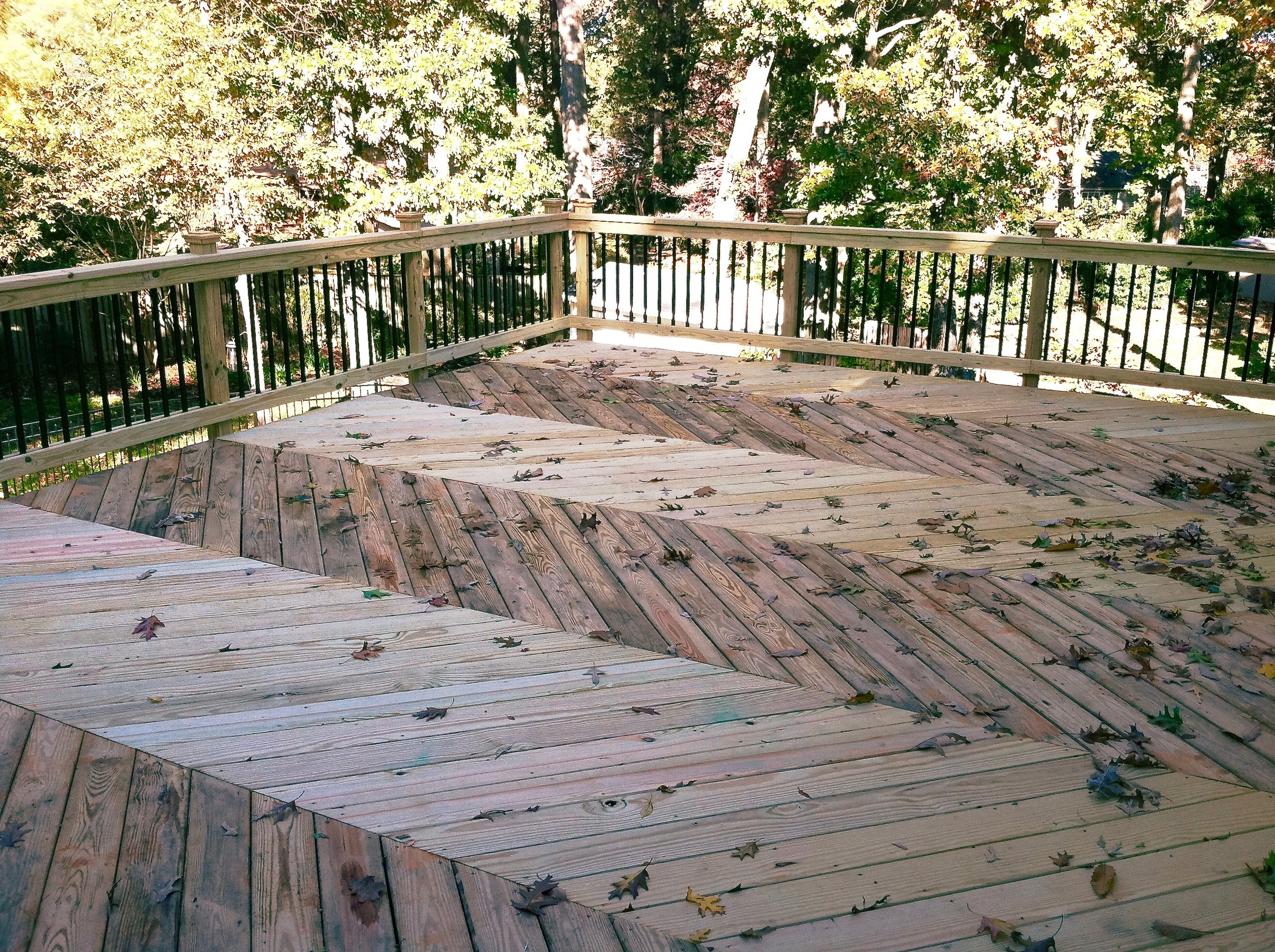A spacious new deck