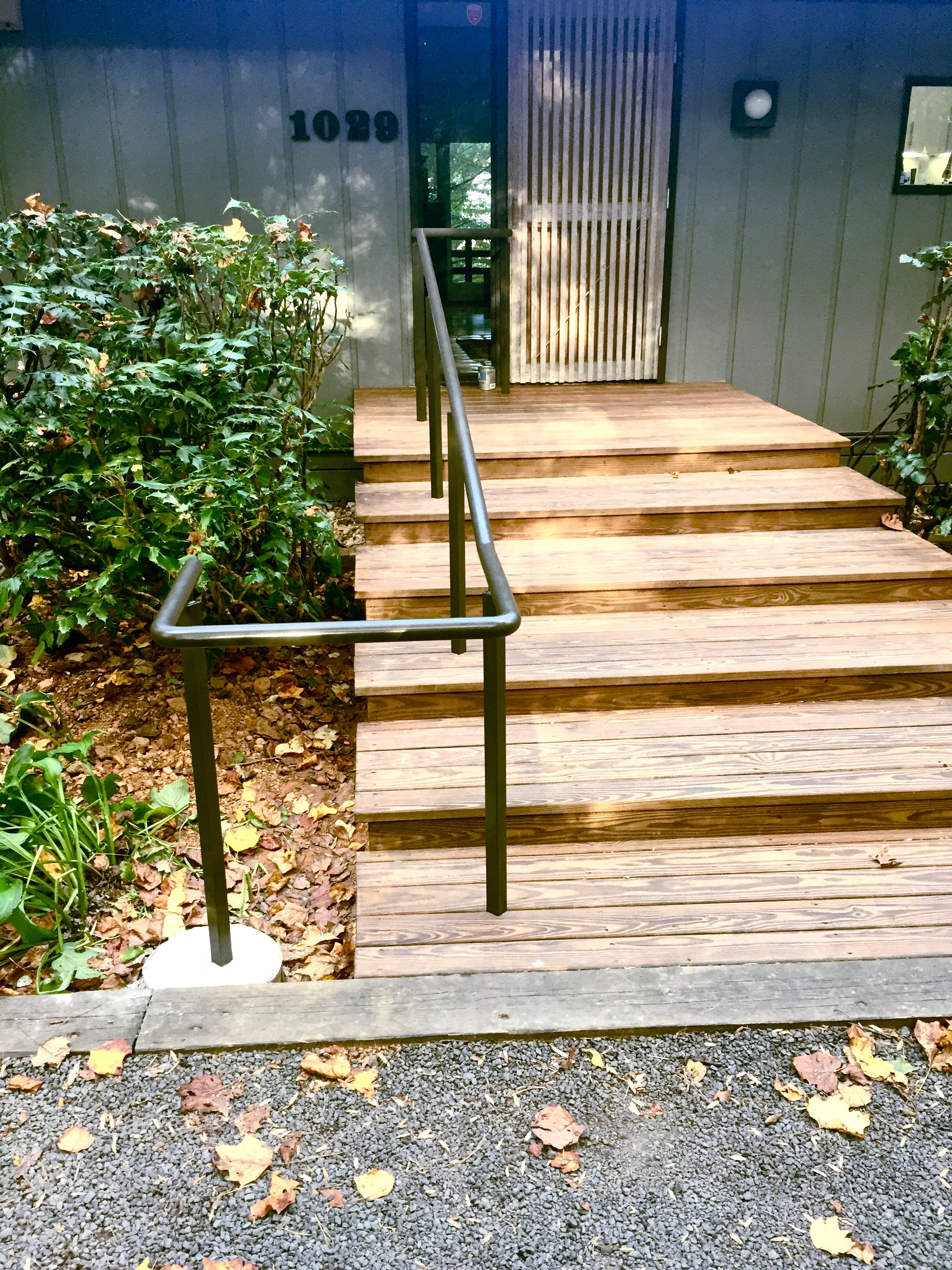 New railing was added to these front steps