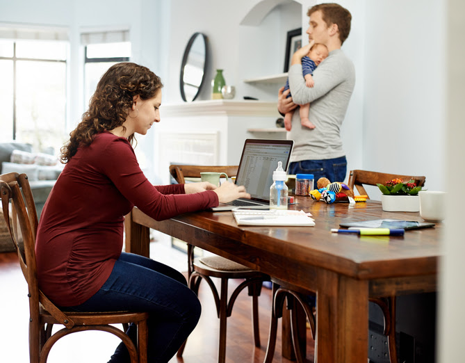 Share more of the household and child-rearing duties with your spouse, so that you can work on your business.