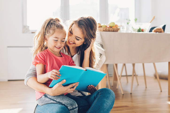 Incorporate new habits such as reading a book with your child into your life.